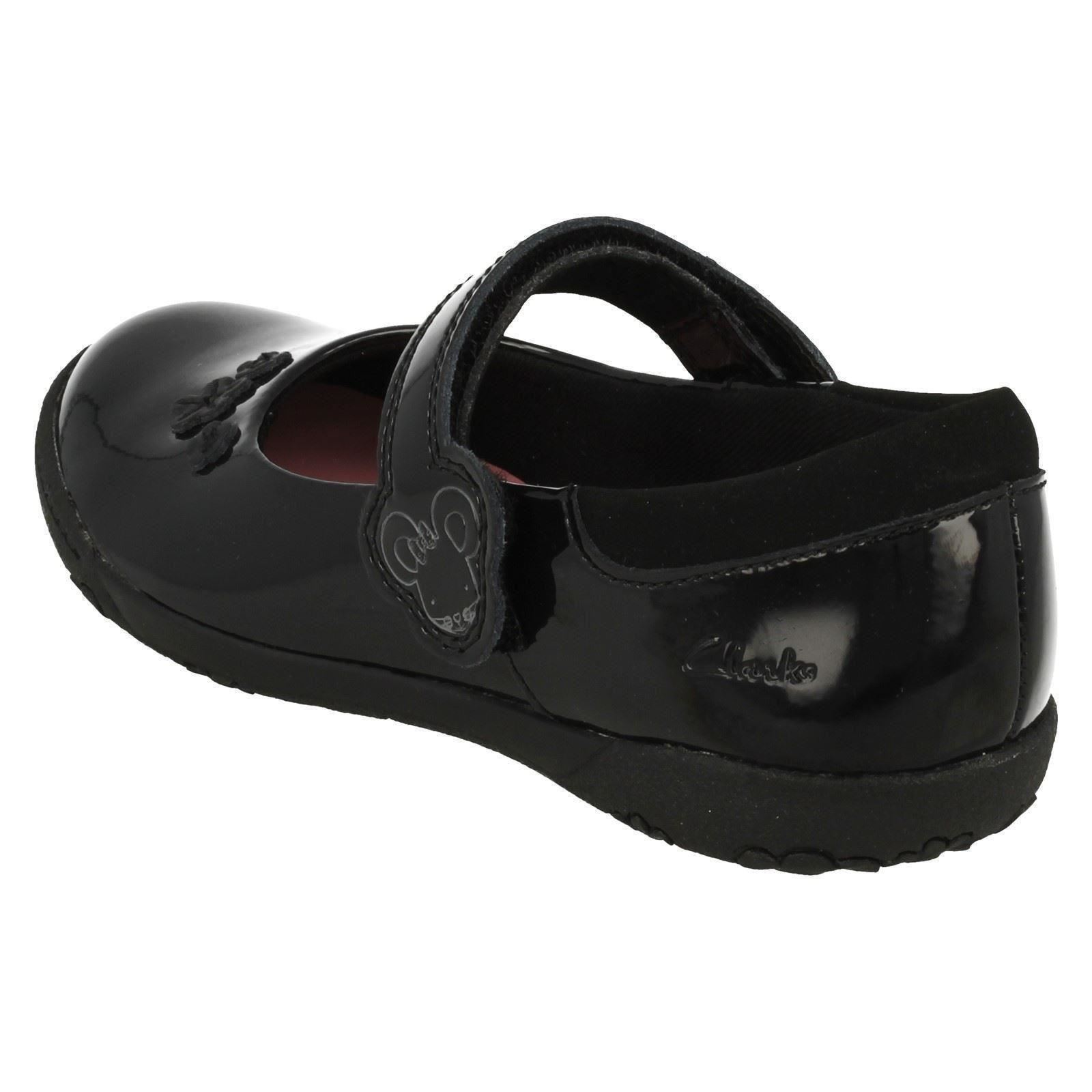 Sal Patente School Niñas Negro Zapatos Nibbles Smart Clarks Binkies EvWWpw4q