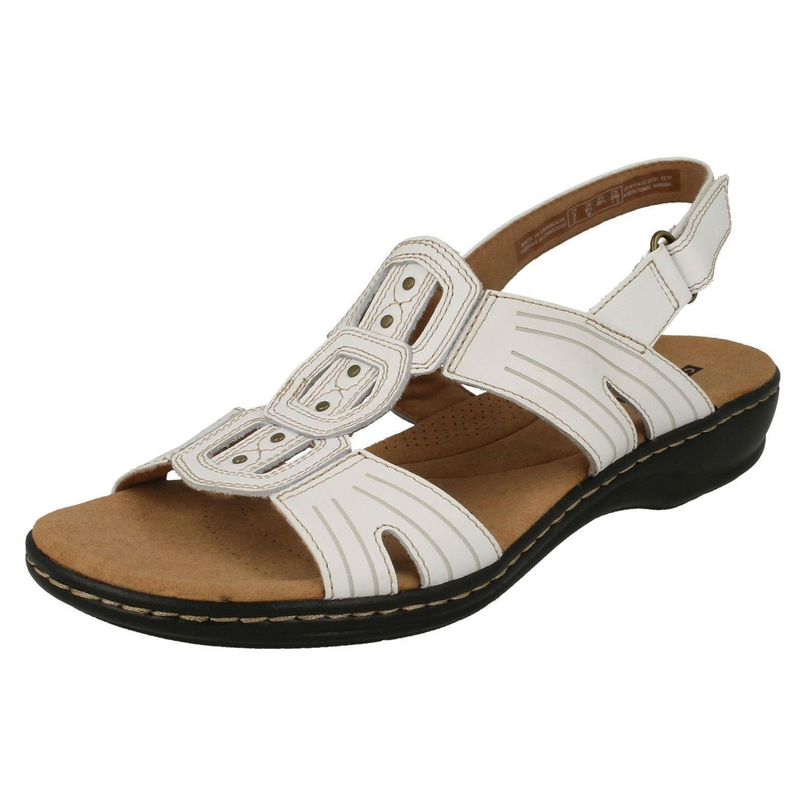 70af999c855 Ladies Clarks Leisa Vine Casual Leather Sandals - D Fitting UK 4.5 ...