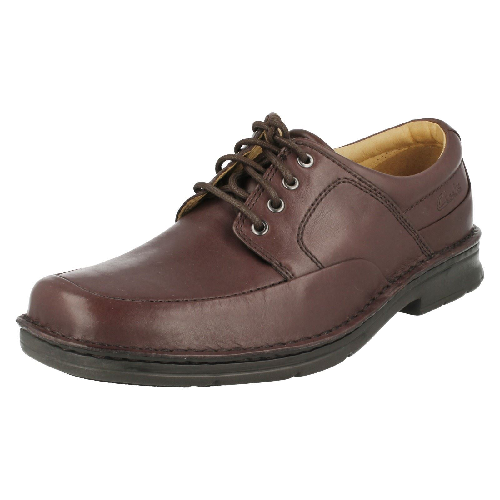 Clarks marrón hombre Zapatos cordones para Salute con Run Ebony 84IqOIdxw