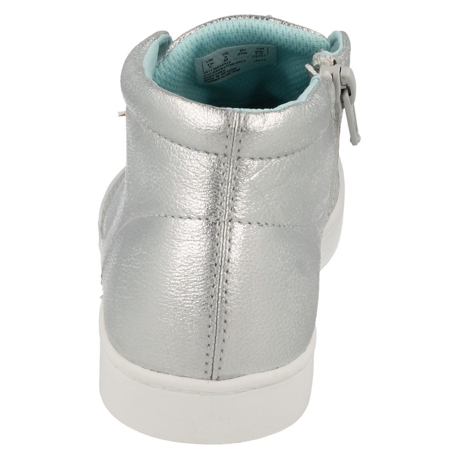 Girls Fizz Silver Casual Clarks Pattie Boots 6dRnTw