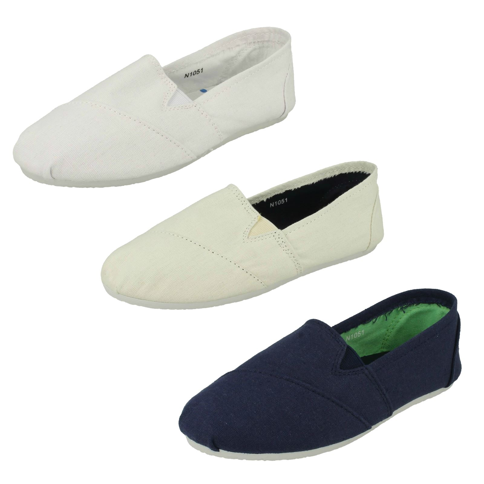 Boys JcDees canvas slip on shoes N1051