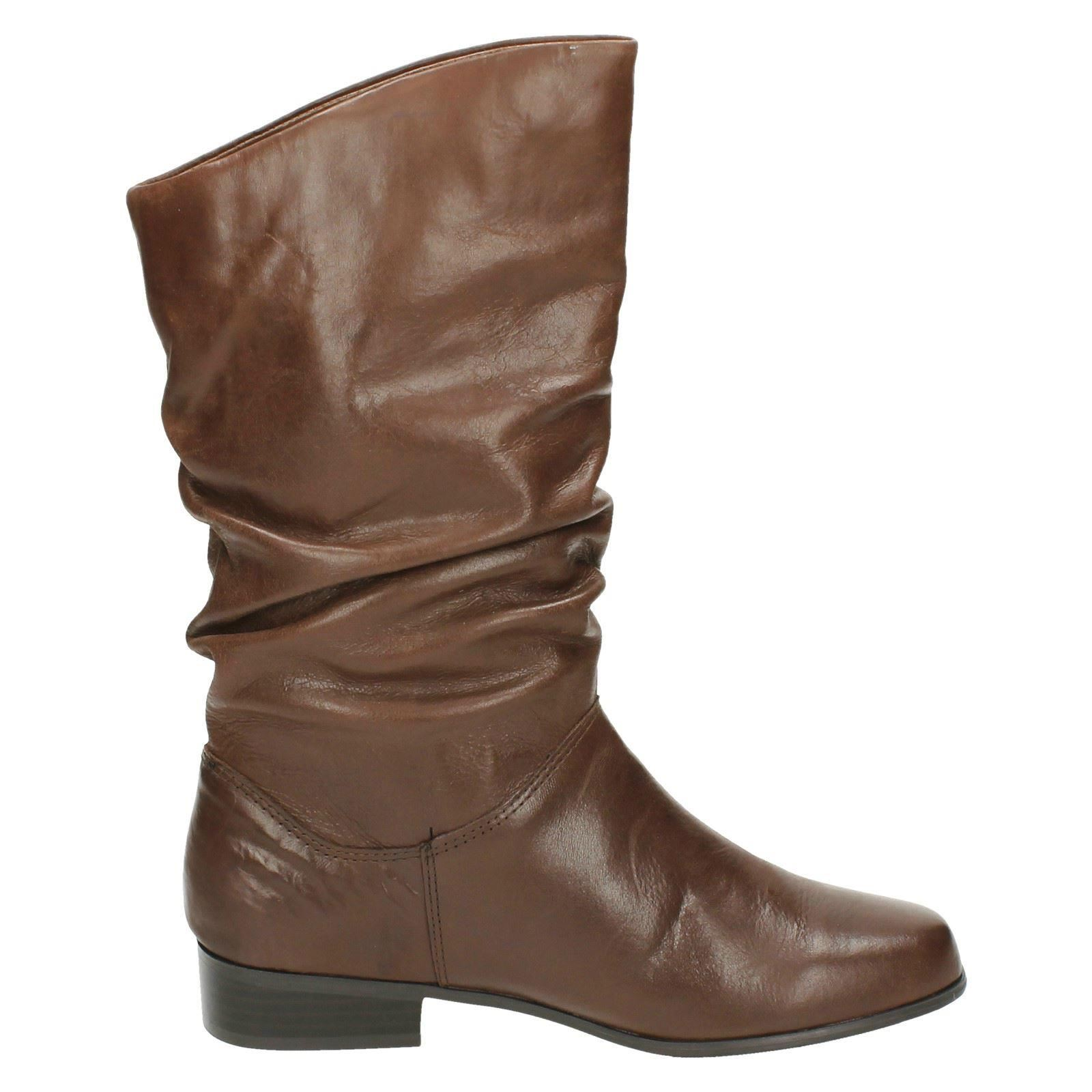 leather collection pull up calf length boots f50694