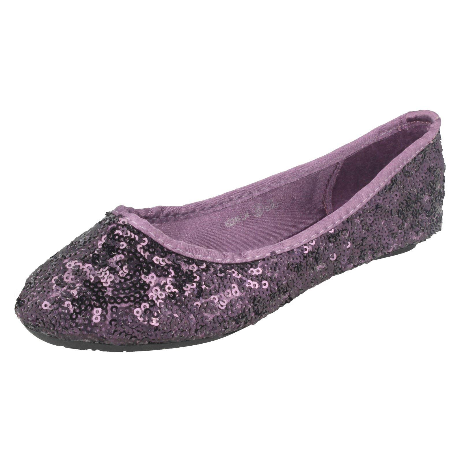 Cutie Chicas Bailarina Zapatos Planos Lentejuelas -