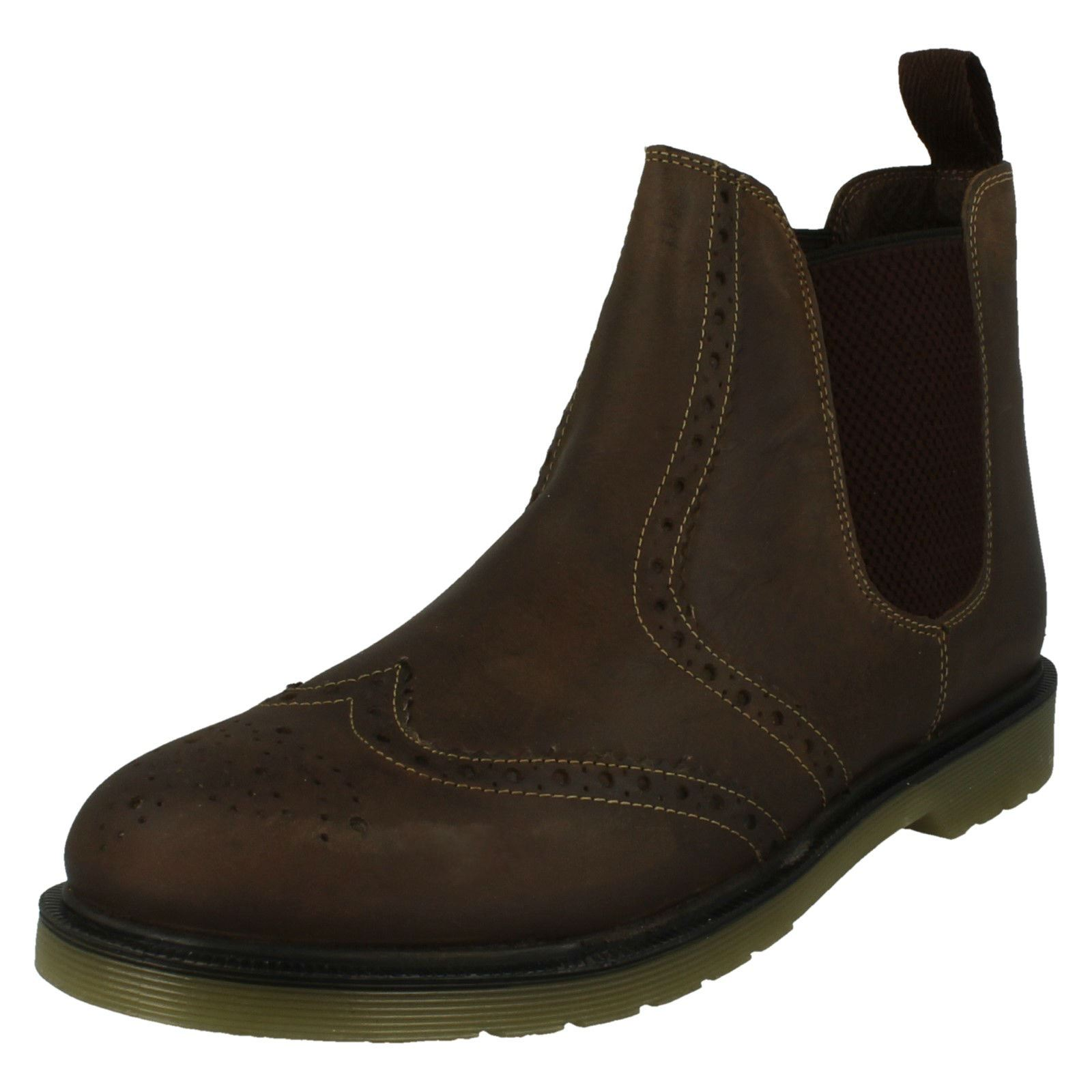 Mens Oak Trak Pull On Chelsea Boots Belper