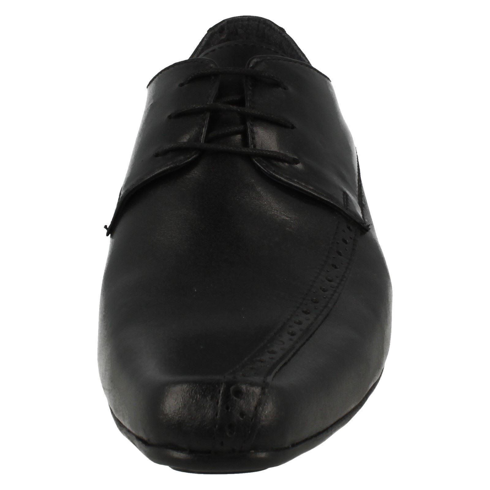 Mens PSL Black Leather Lace up Shoes
