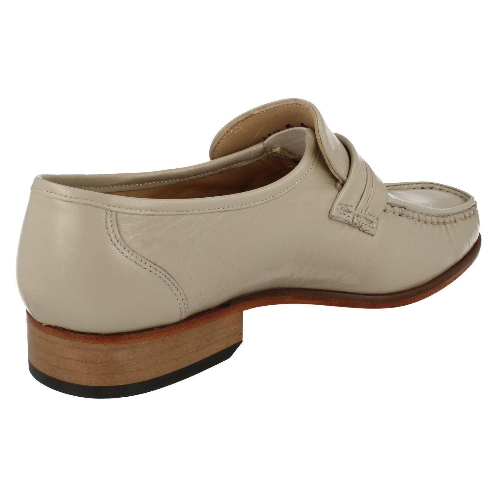 'Mens Grenson' Square Front Smart Slip On Shoes - Clapham