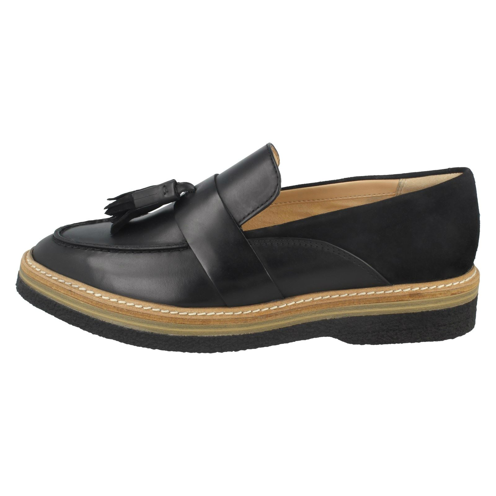 Ladies Clarks Clarks Clarks Zante Spring Flat Loafer shoes 3bee05