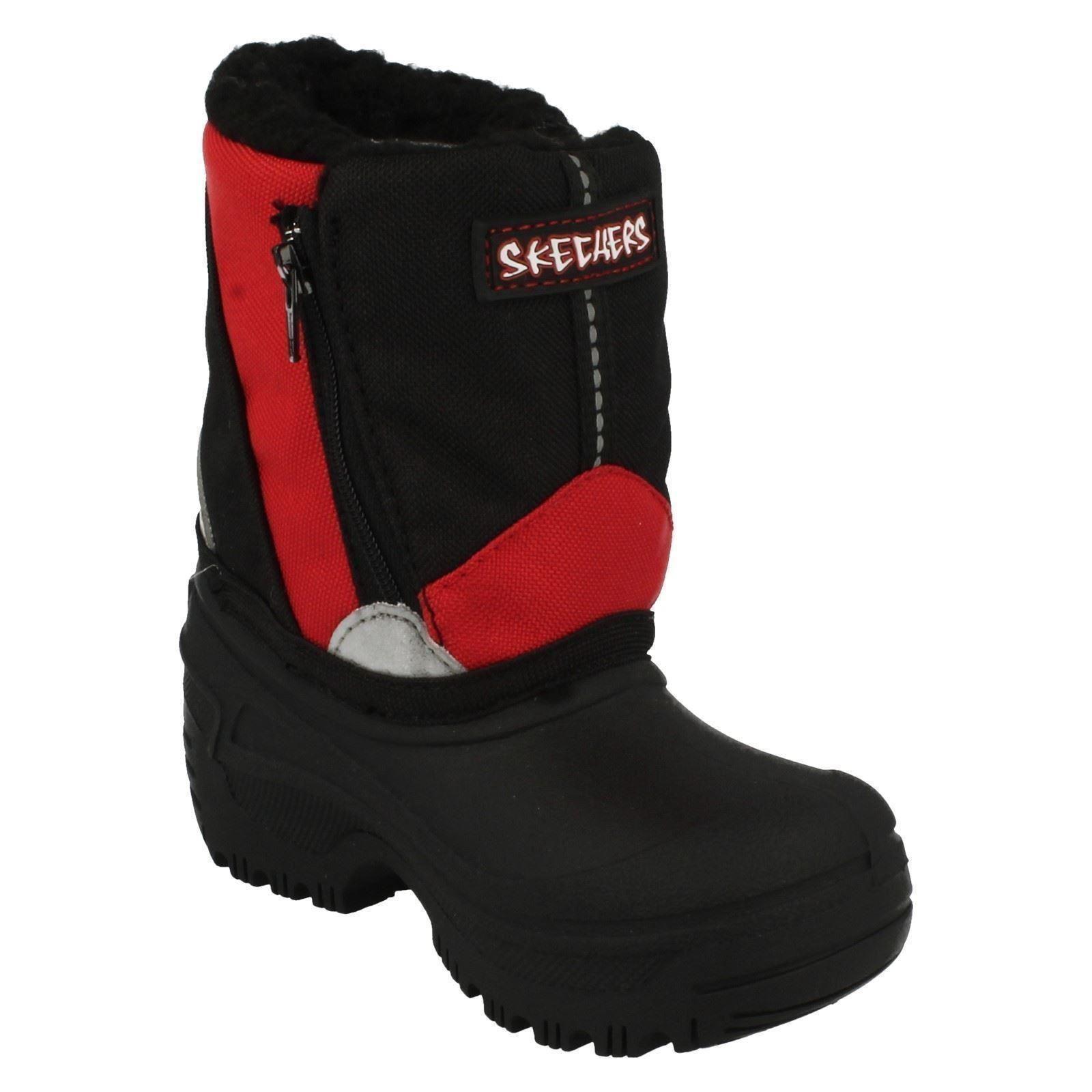 01042f75baad6 Boys Skechers Mor-Tex Water Resistant Snow Boots Carbuncle 96061N