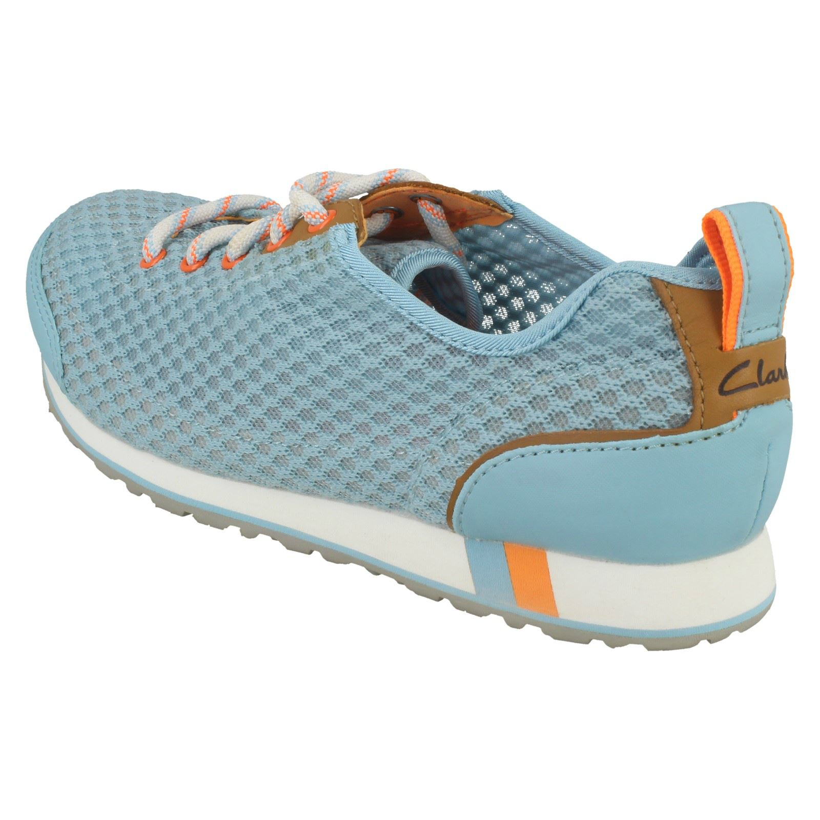 blue Sky Trainers Wear Clarks Blue 'incast Ladies Lace' Active qtYUUS8