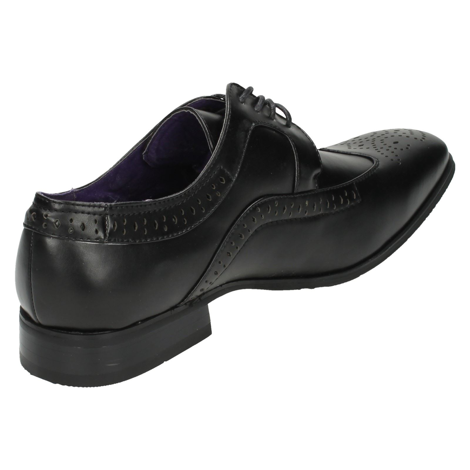 Mens Flat Formal Lace Up Brogue Shoes