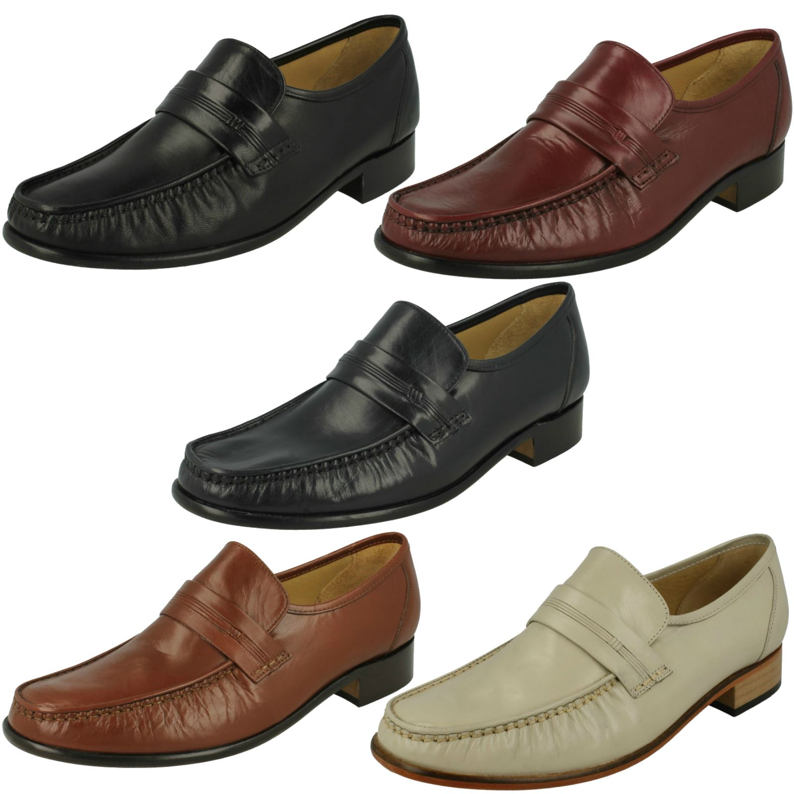 Details about Mens Thomas Blunt Moccasin Formal Shoes Clapham 2