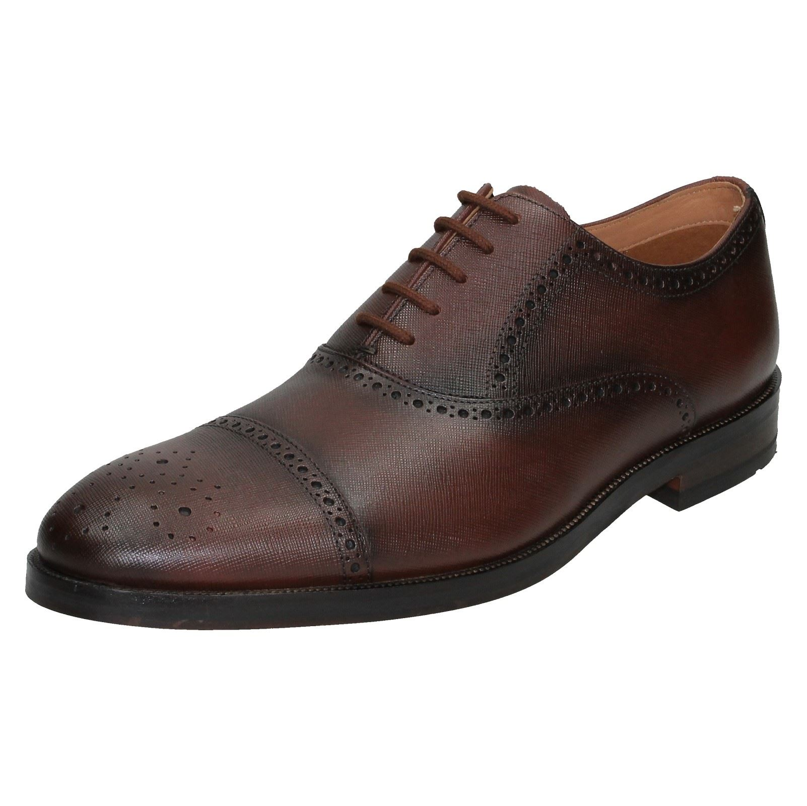 Detalles de Hombre clarks Puntera Detallado Zapatos Oliver Limite