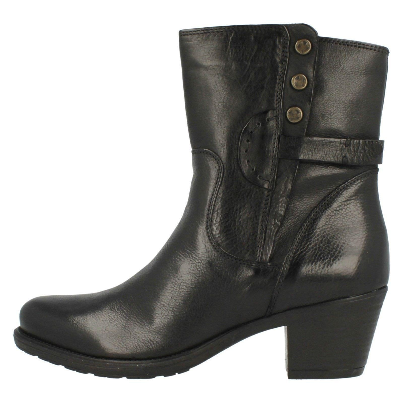 Ladies Casual Black Maymie Boots Short Clarks Skye Classic 6fBFS