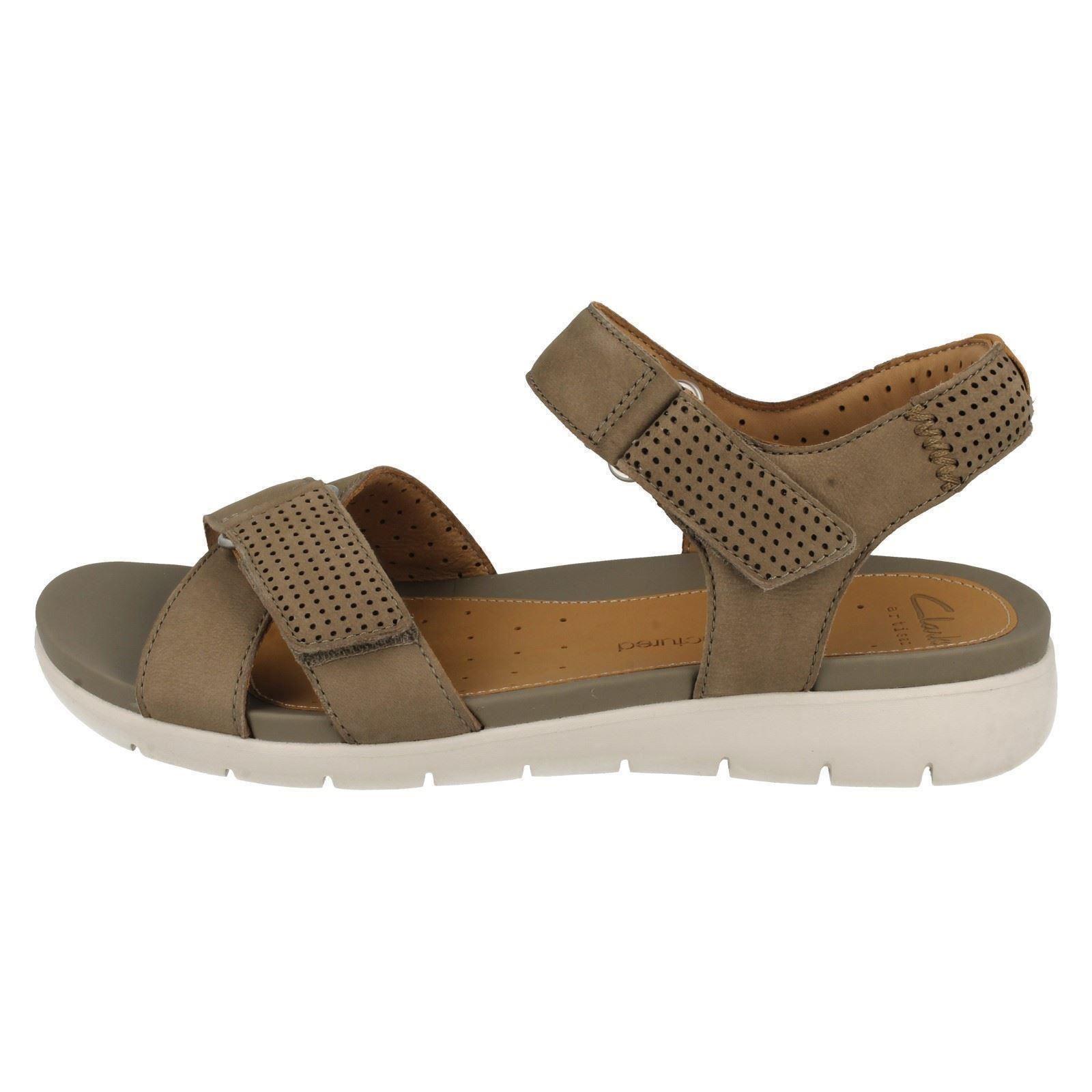 3c197ff8306e Ladies-Clarks-Casual-Sandals-Un-Saffron thumbnail 4
