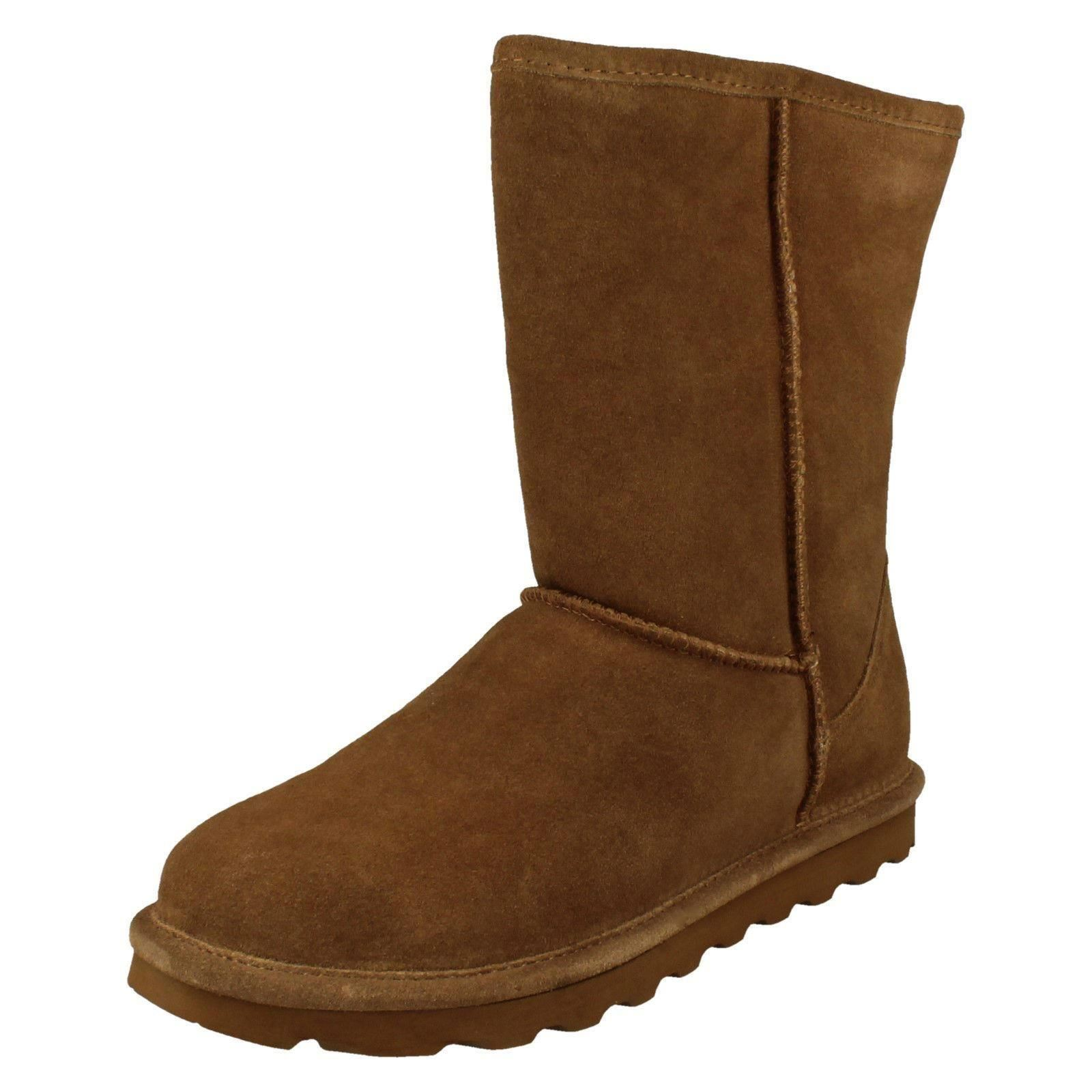 Ladies Lined Bearpaw Sheepskin Lined Ladies Pull On Casual Suede Stivali Elle Short bdb87e