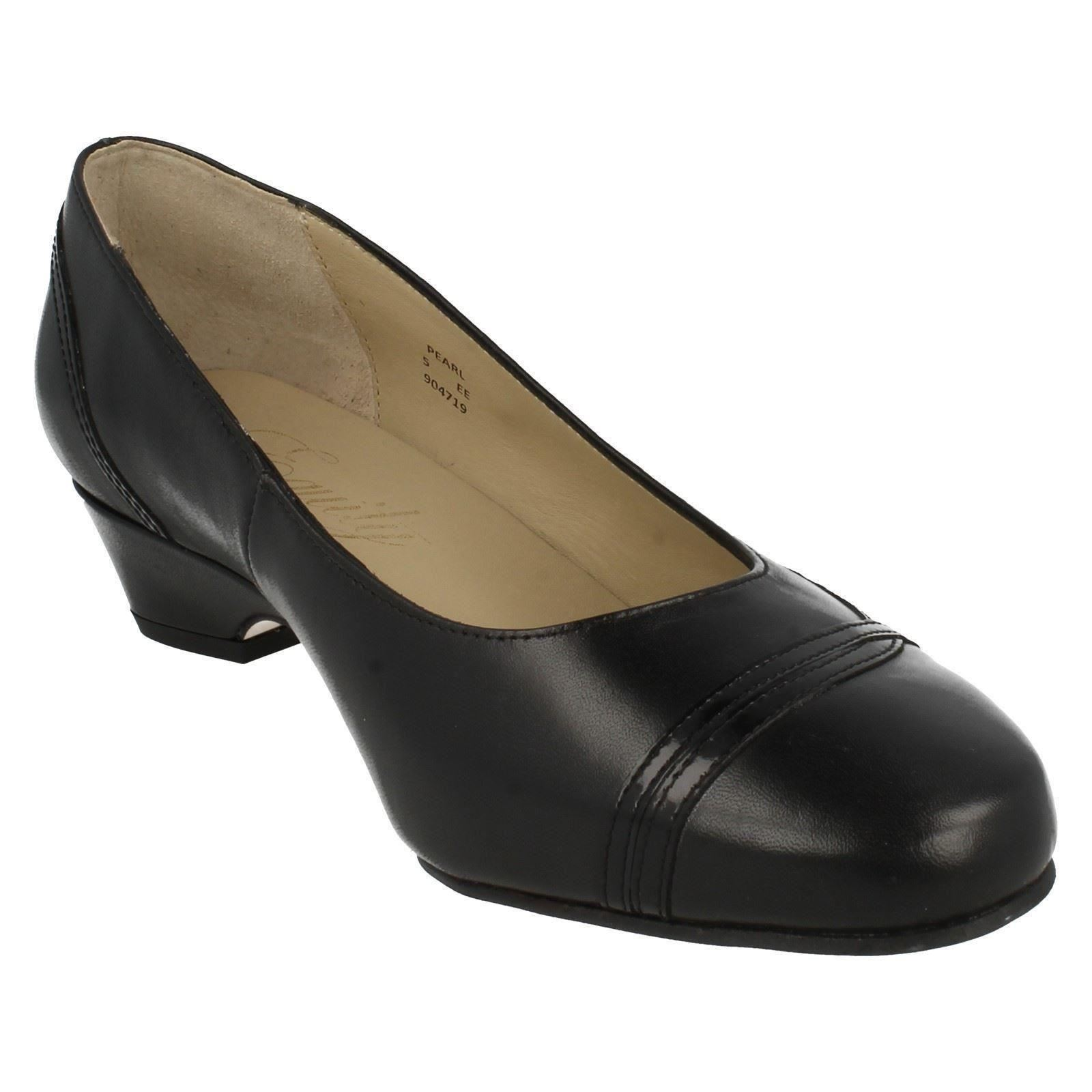 Smart Pearl Ladies Wide Equity Fitting Shoes Black qXUTwtTvS
