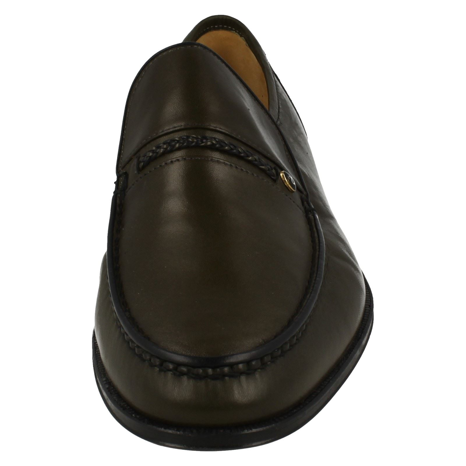 Mens Grenson Classic Moccasin Leather Slip On Shoes - Amos Amos Amos 4997fe