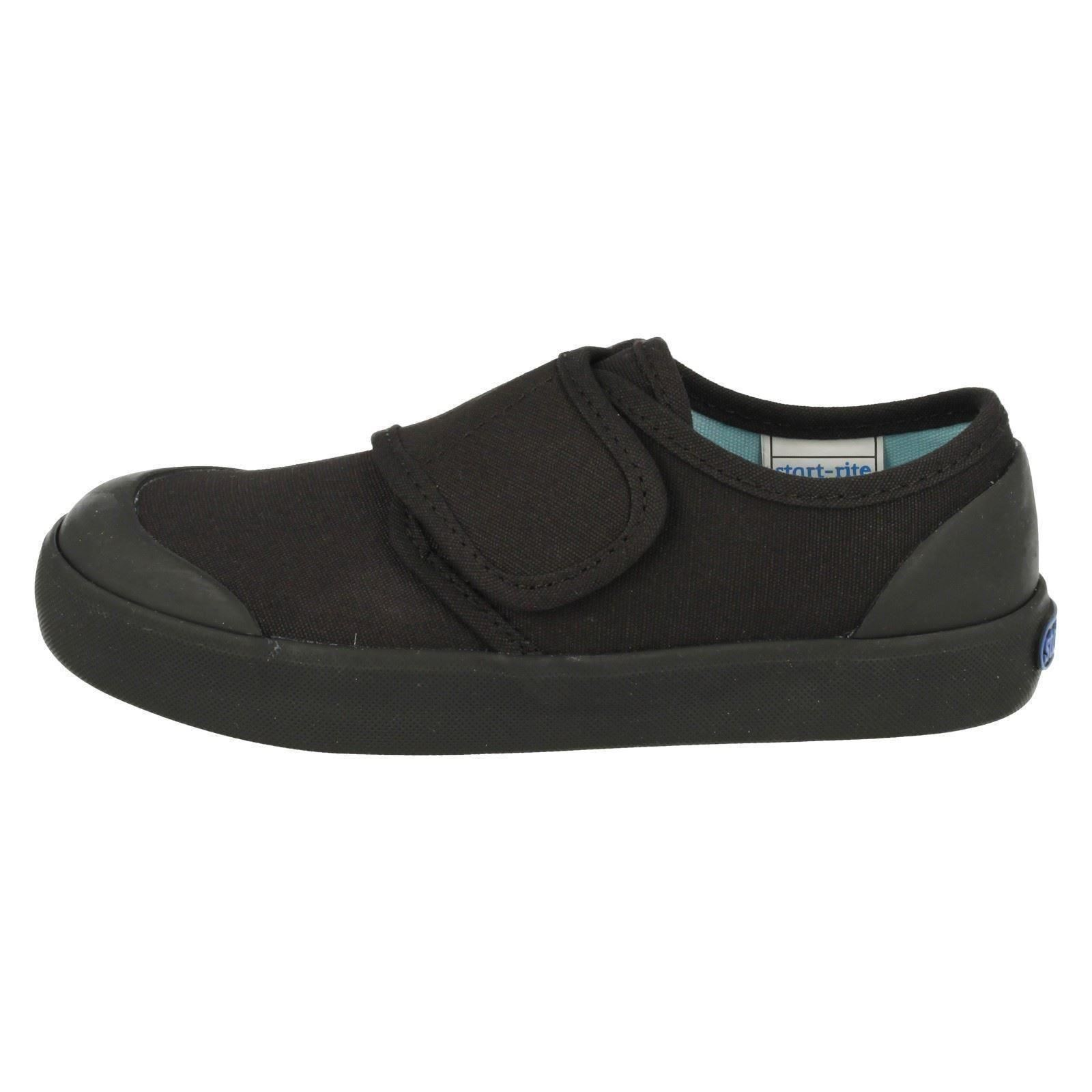 ce07edecb2b Start-rite Skip Black Canvas School Plimsolls pumps Unisex Sizes 7 - 3 8.  About this product. Picture 1 of 10  Picture 2 of 10 ...
