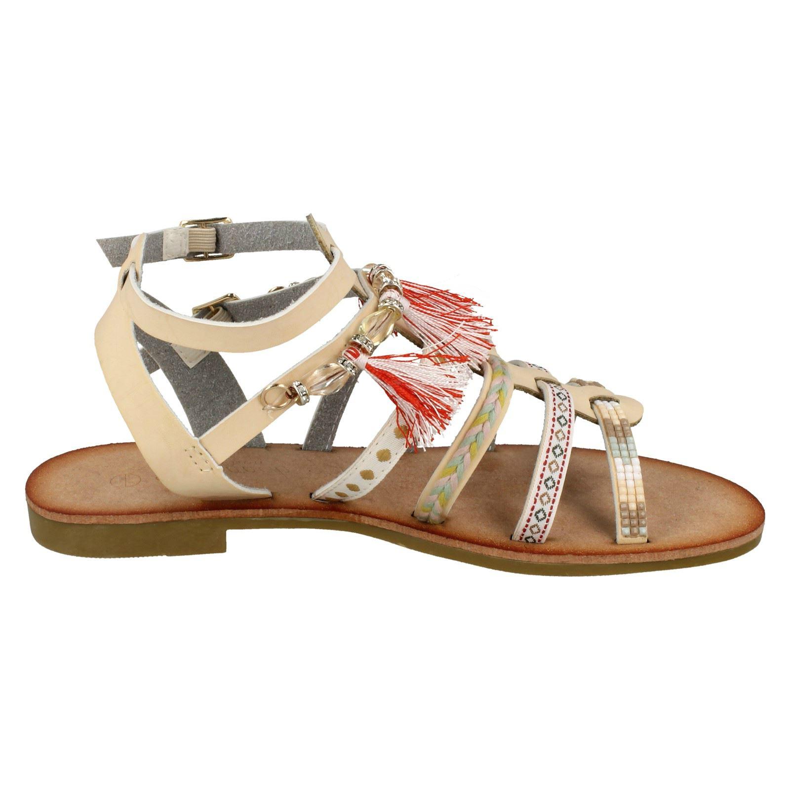 Ladies Savannah Flat Strappy Beaded 'Sandals'   eBay