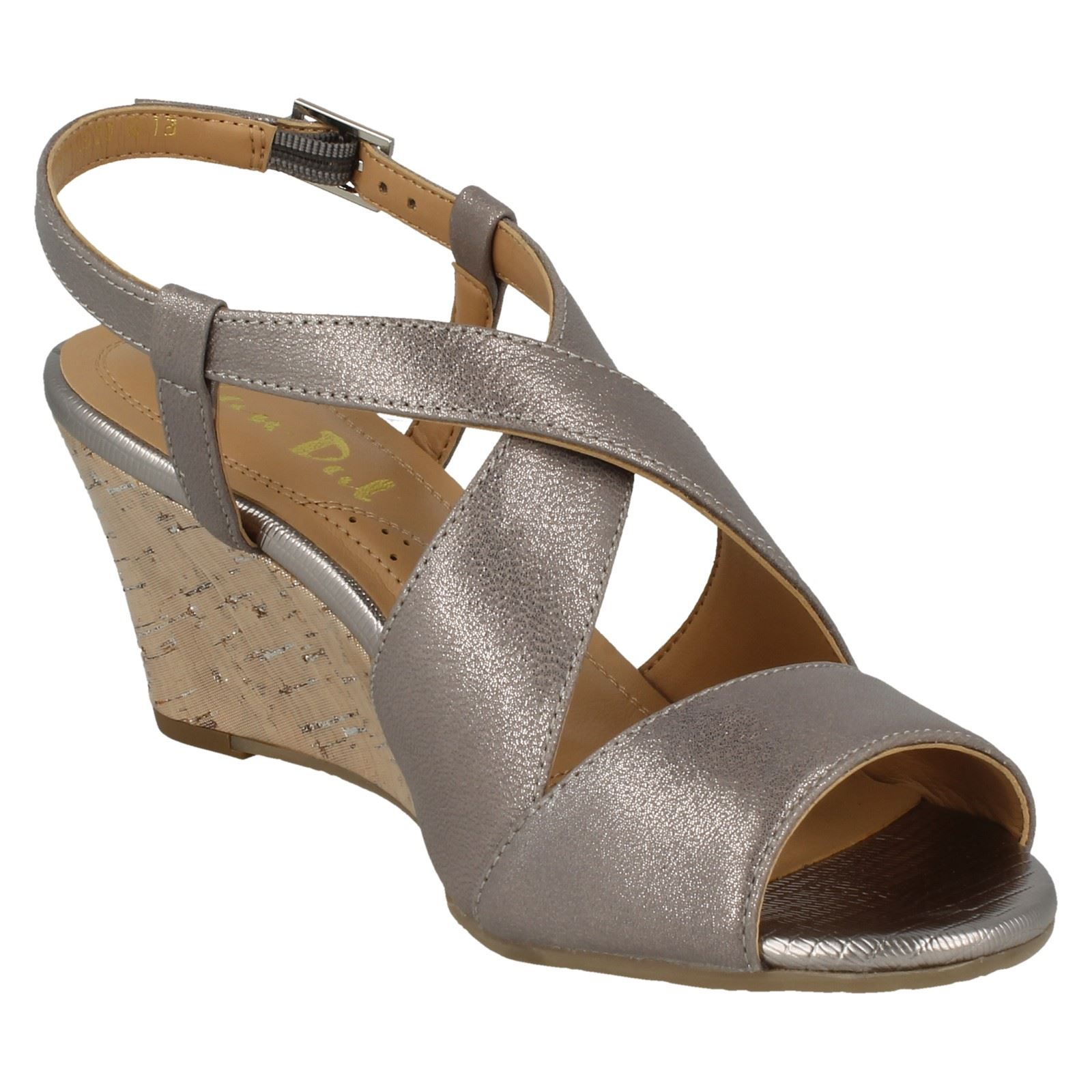 Ladies-Van-Dal-Cross-Strap-Wedged-Sandal-Allora thumbnail 27