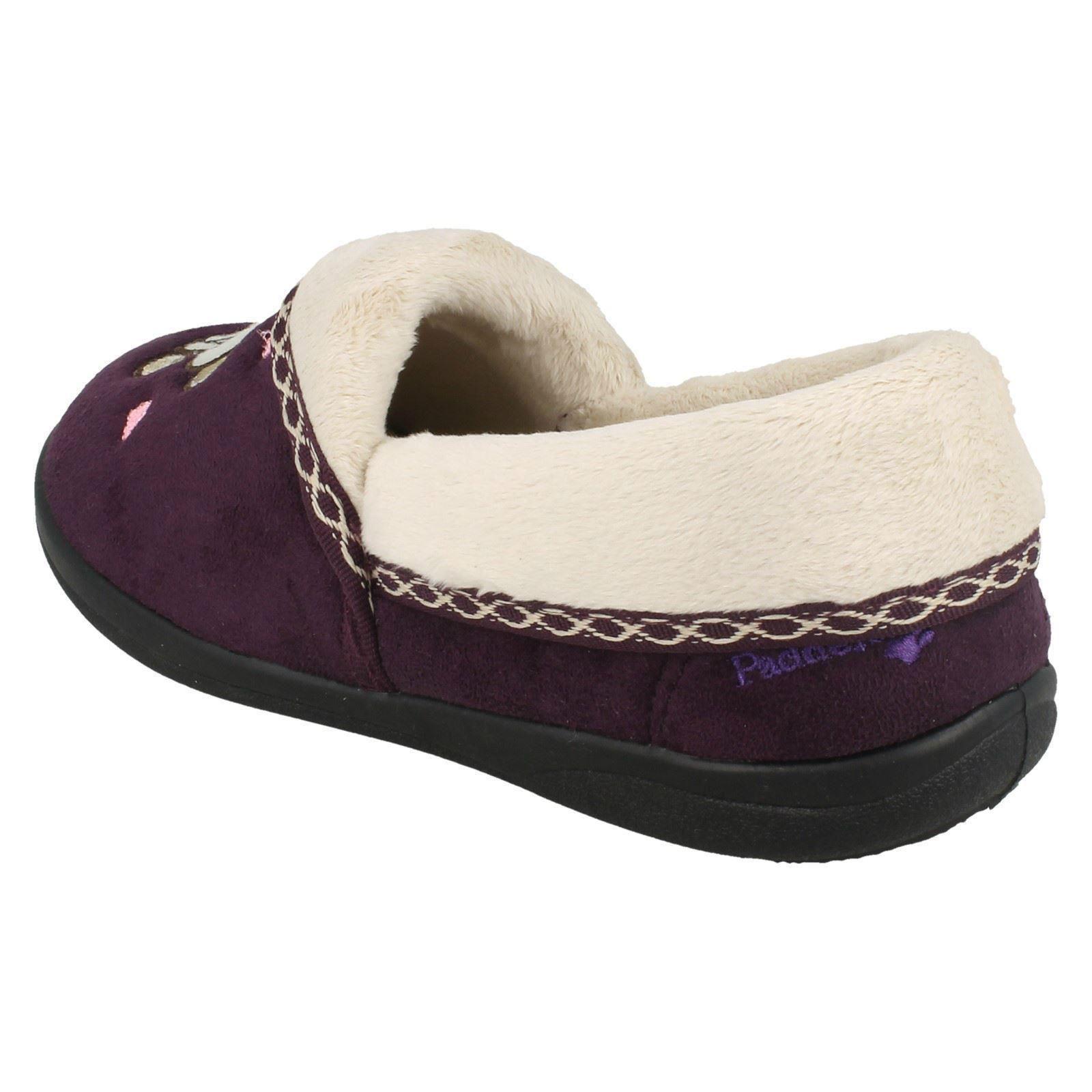 Padders Purple House Ladies Teddy Slippers 7vyqyZd