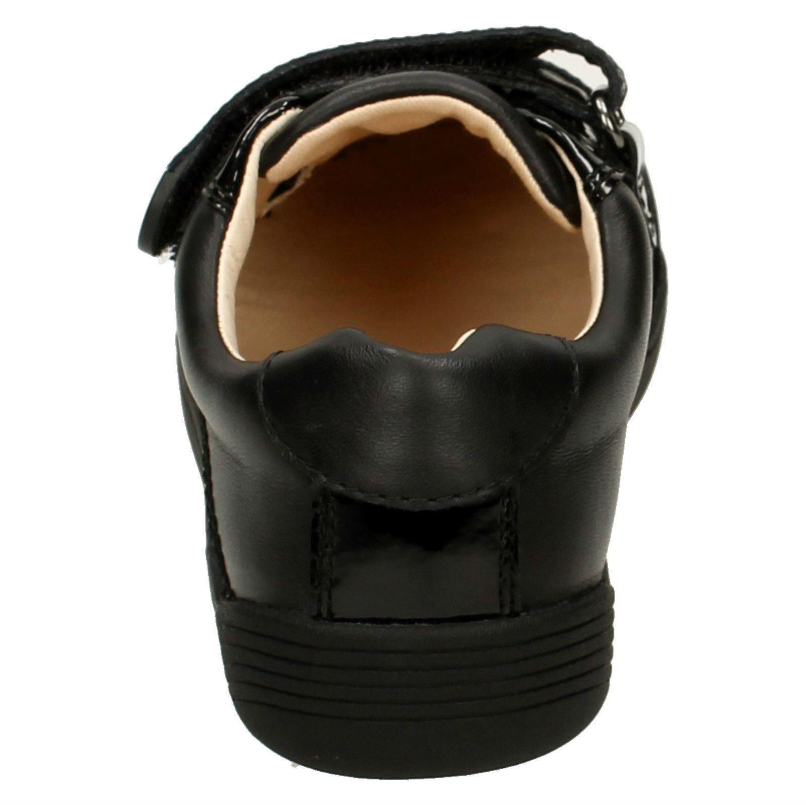 Smart Zapatos para Lil Clarks Folk Bel Black School niñas 5xrPr