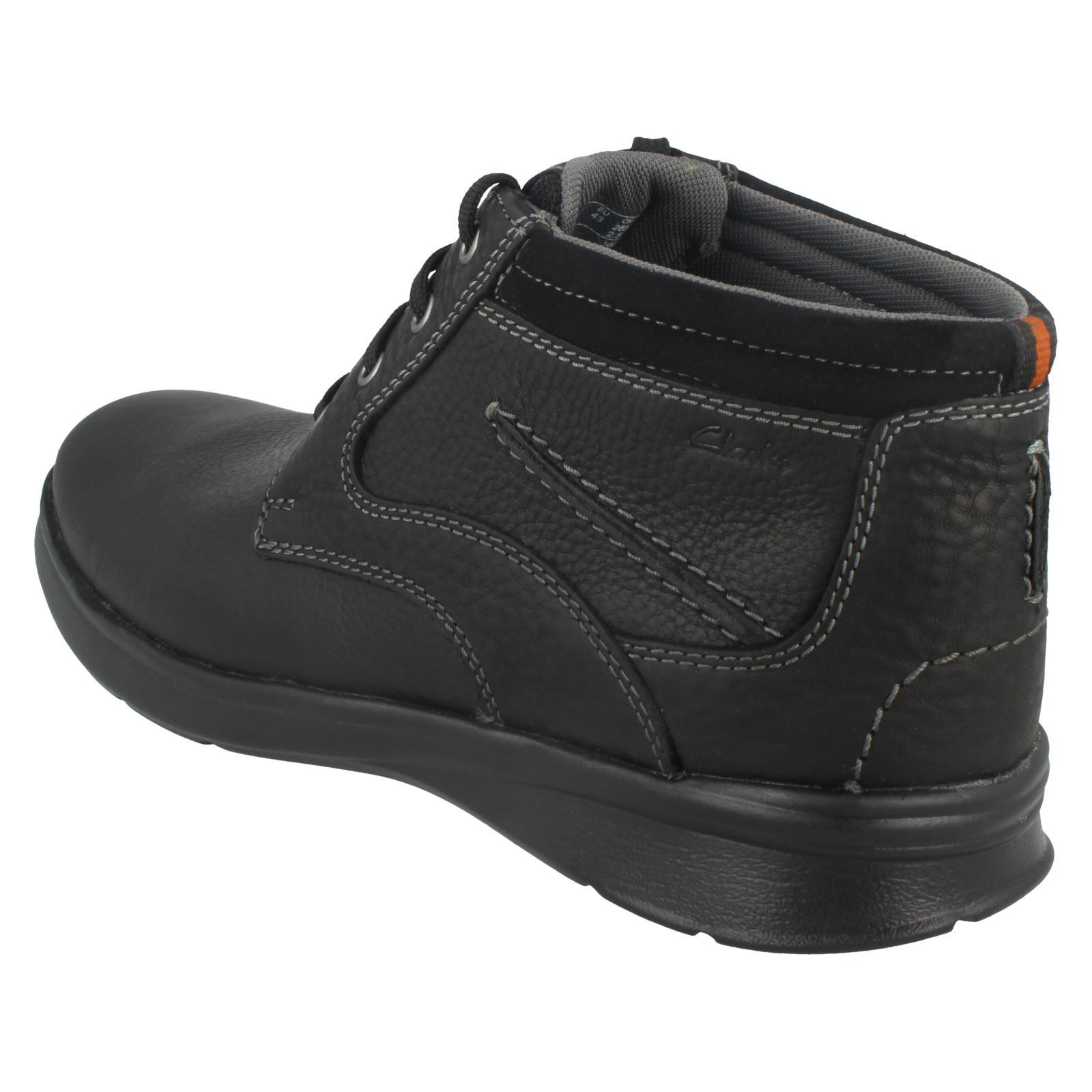 Mens-Clarks-Cotrell-Rise-Casual-Lace-Up-Ankle-Boots thumbnail 4