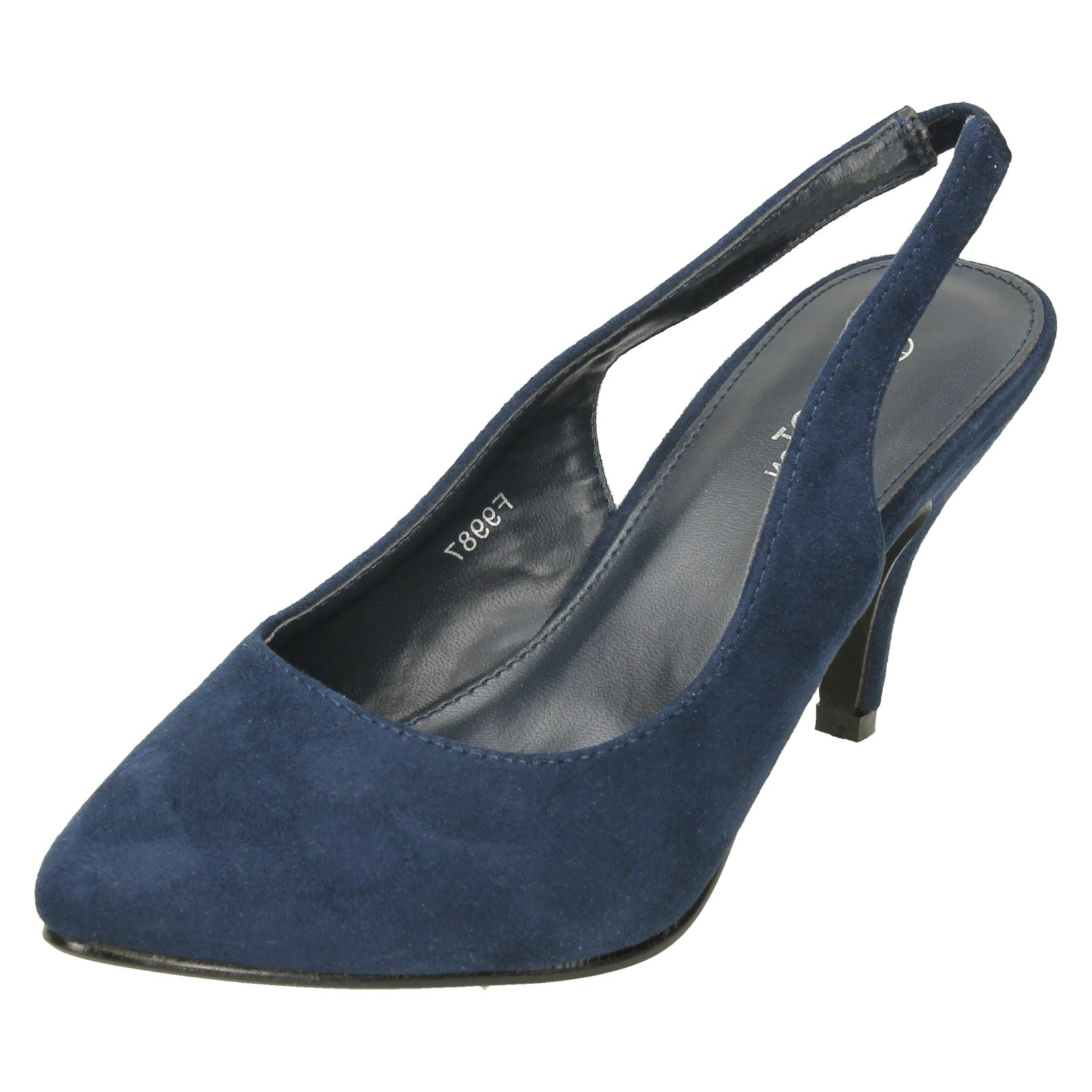 9bebae398dc4a Ladies Spot On Mid Heel Slingback 'Court Shoes' for sale