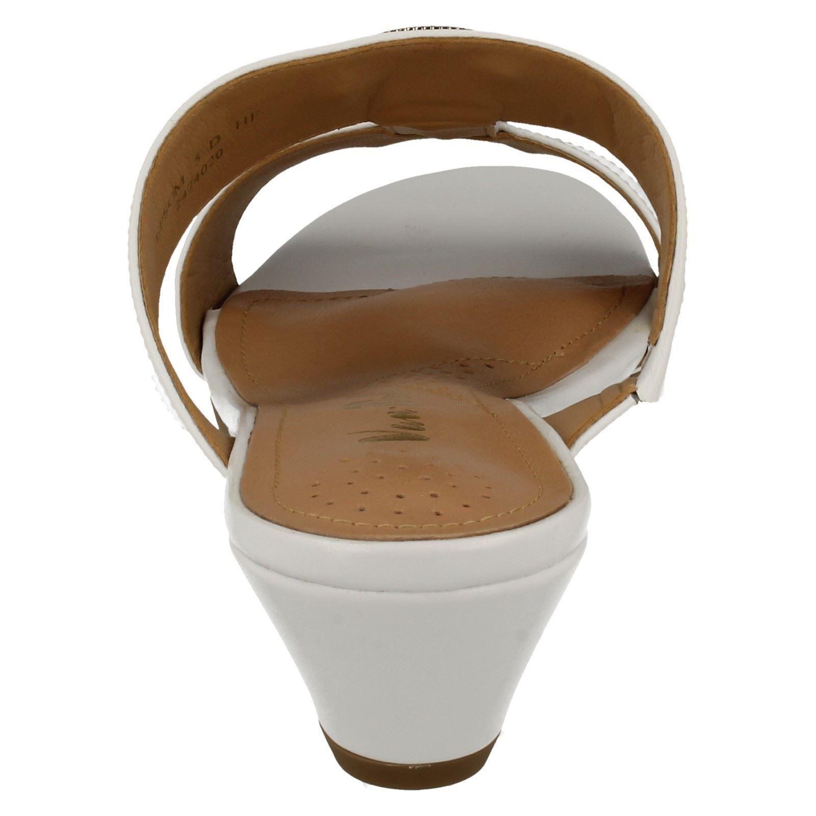 Ladies-Van-Dal-Open-Toe-Slip-On-Summer-Low-Wedge-Leather-Sandals-Epsom thumbnail 5