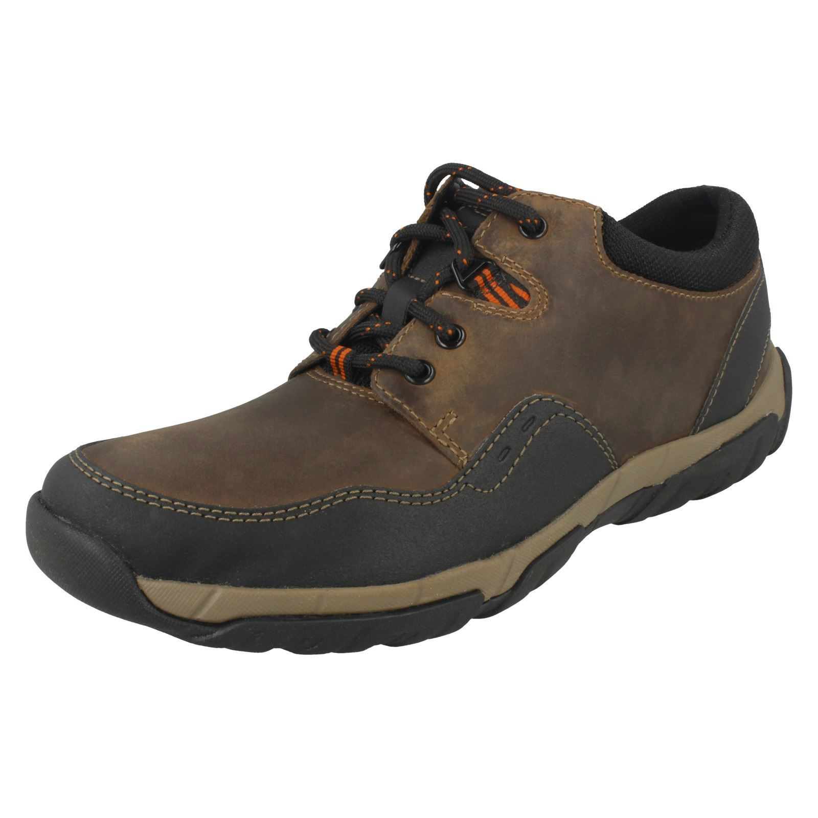 Details Ii Clarks Up Mens Shoes Lace Casual Weatherproof Textile About Walbeck Edge Leatheramp; SMqpzLUVG