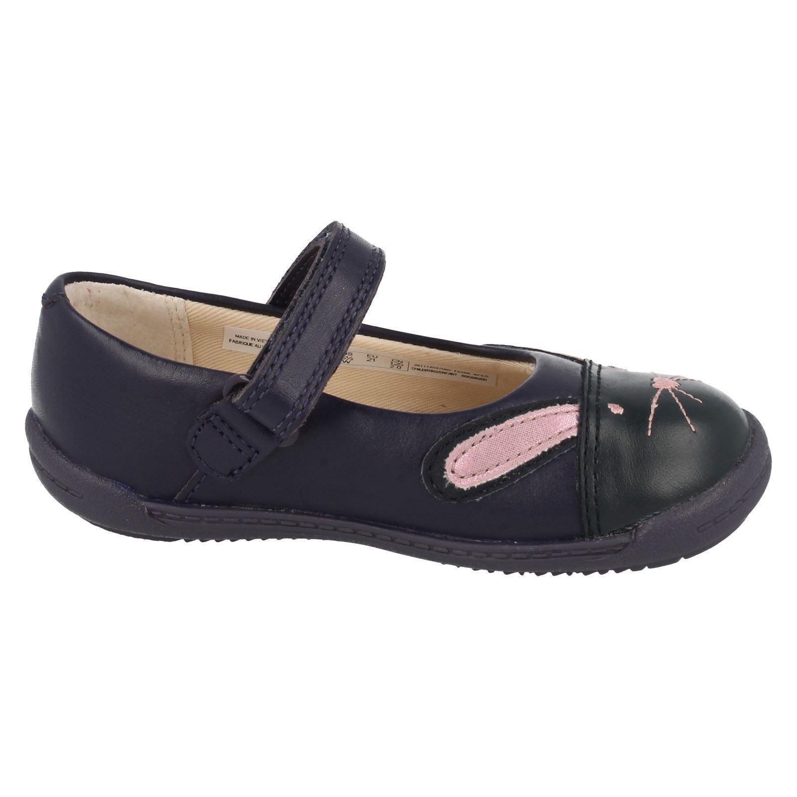Bunny' Niñas zapatos Primeros marino 'iva azul azul Clarks Iawa7qCZ
