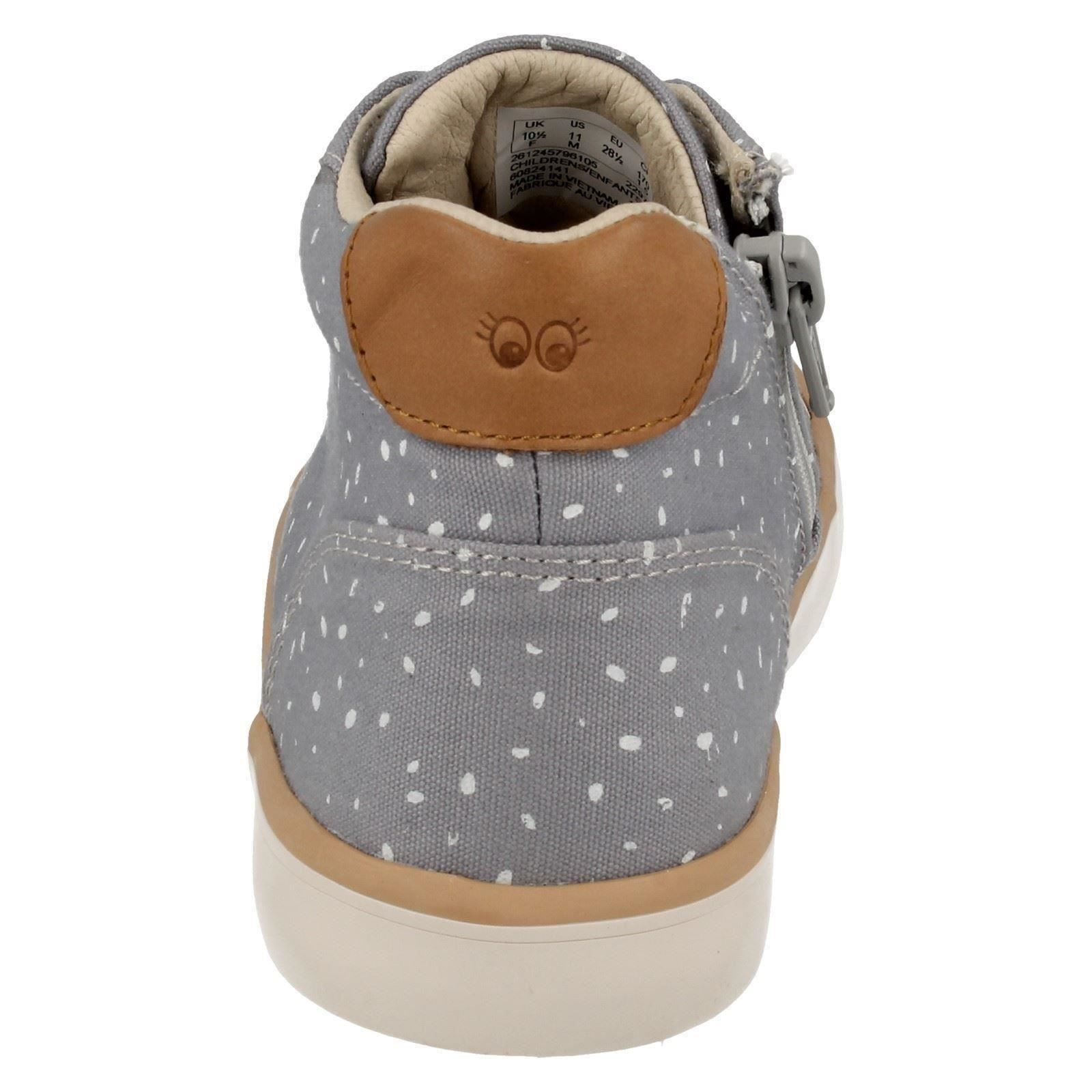 Whiz Casual Infant Girls Clarks junior Boots Gris Comic 1XXIAq