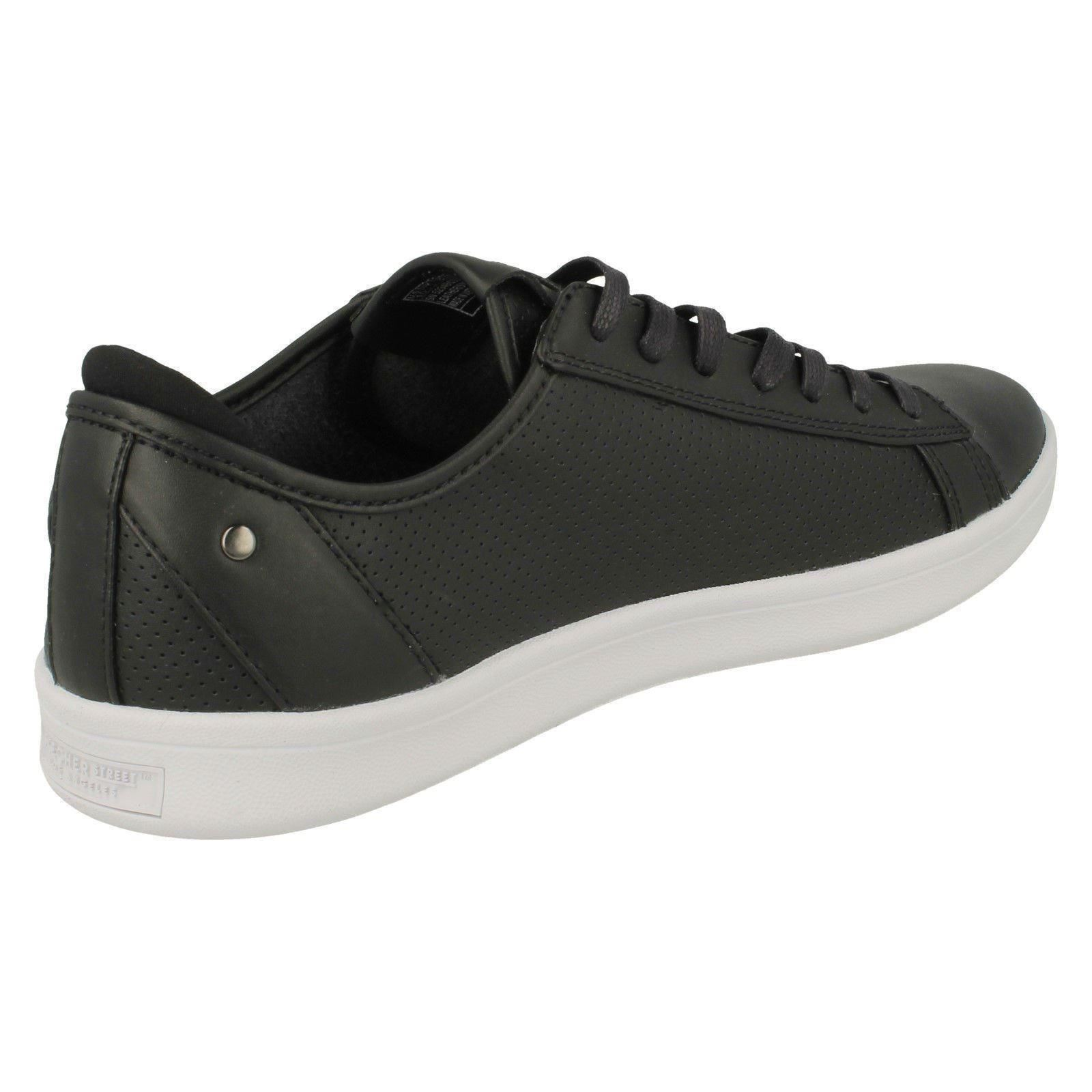 609fecbcd4d5 Mens Skechers Leather Rounded Toe Lace Up Casual Trainers -   Highland-T
