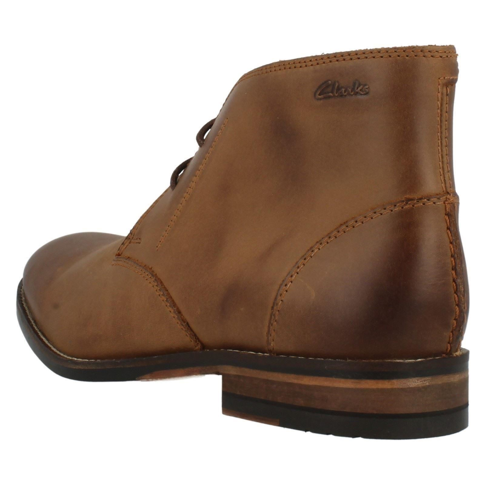 Mens Clarks Smart Ankle Boots Exton Up