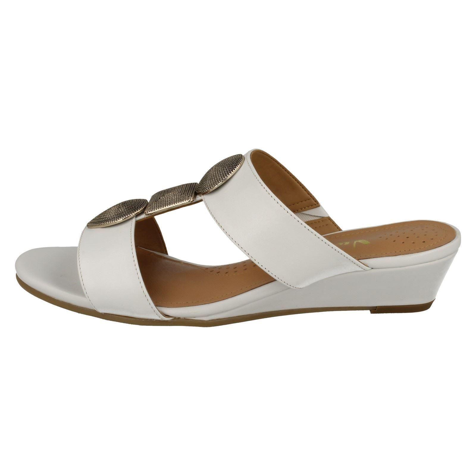 Ladies-Van-Dal-Open-Toe-Slip-On-Summer-Low-Wedge-Leather-Sandals-Epsom thumbnail 3