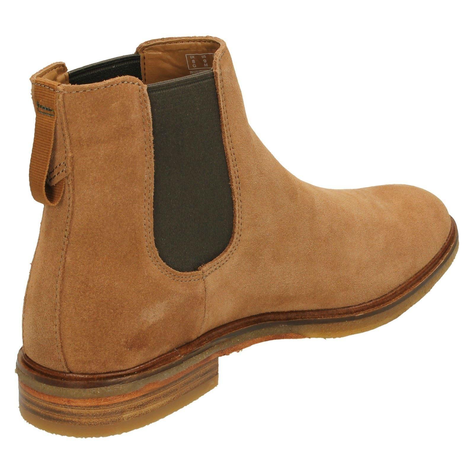 Clarks Men/'s Clarkdale Gobi Navy Chelsea Boots