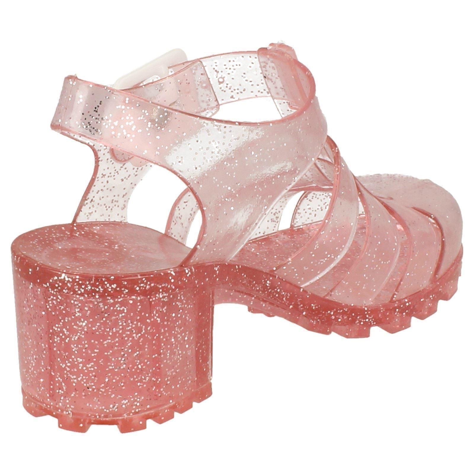Zapatos de chicas de punto en goma de brillo