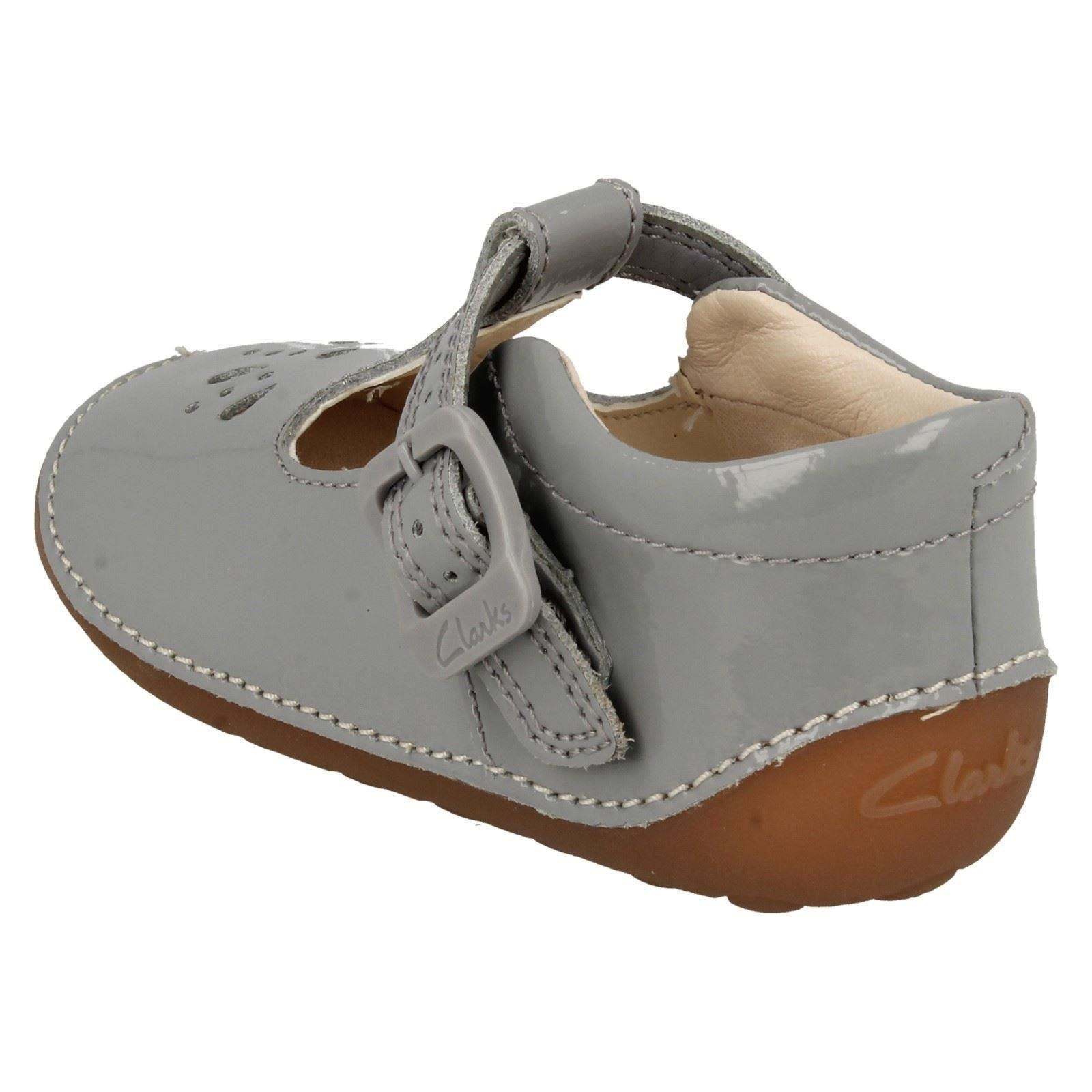 Infant Girls Clarks T-Bar Cruisers Little Weave