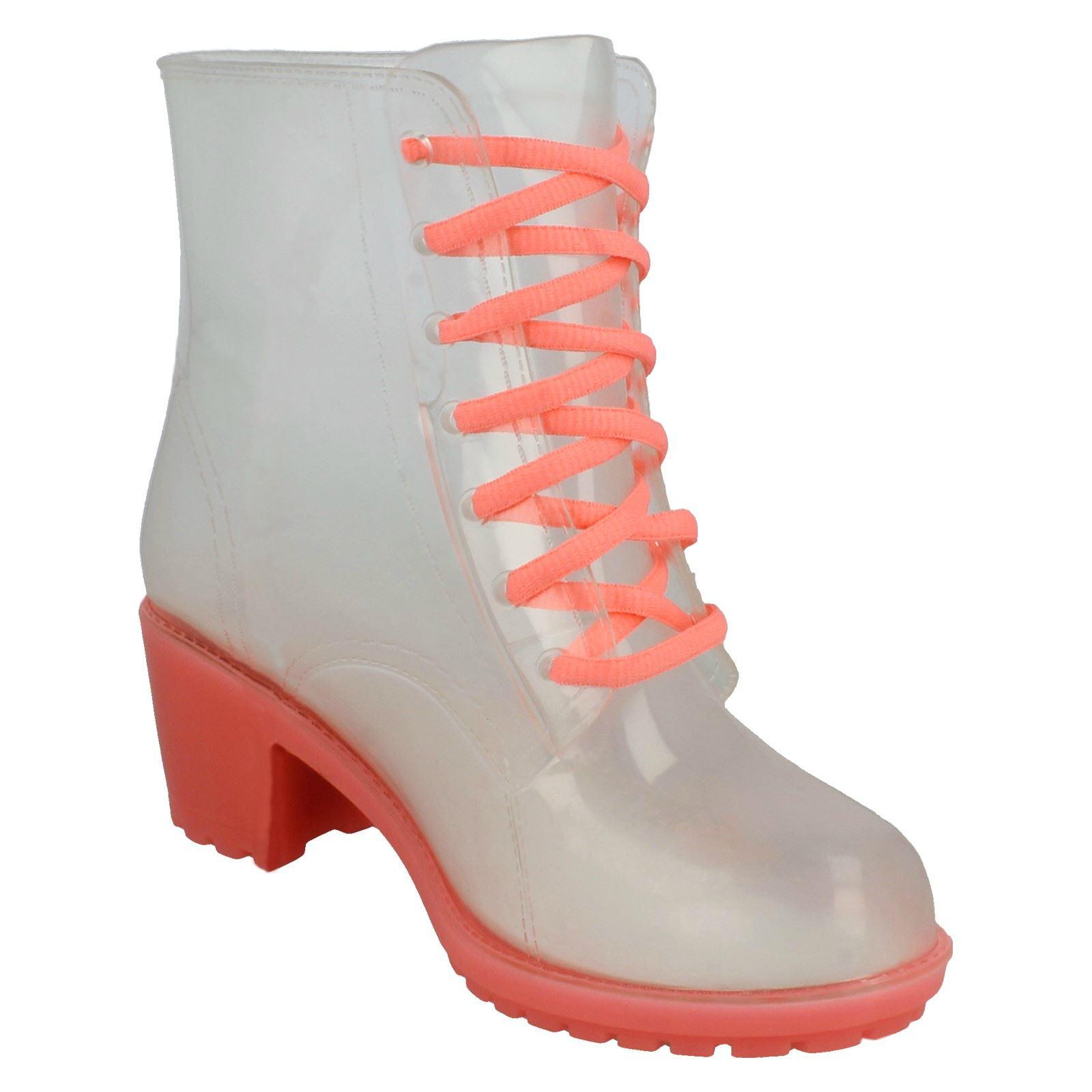 Ladies Spot On Mid Heel Wellington Boots