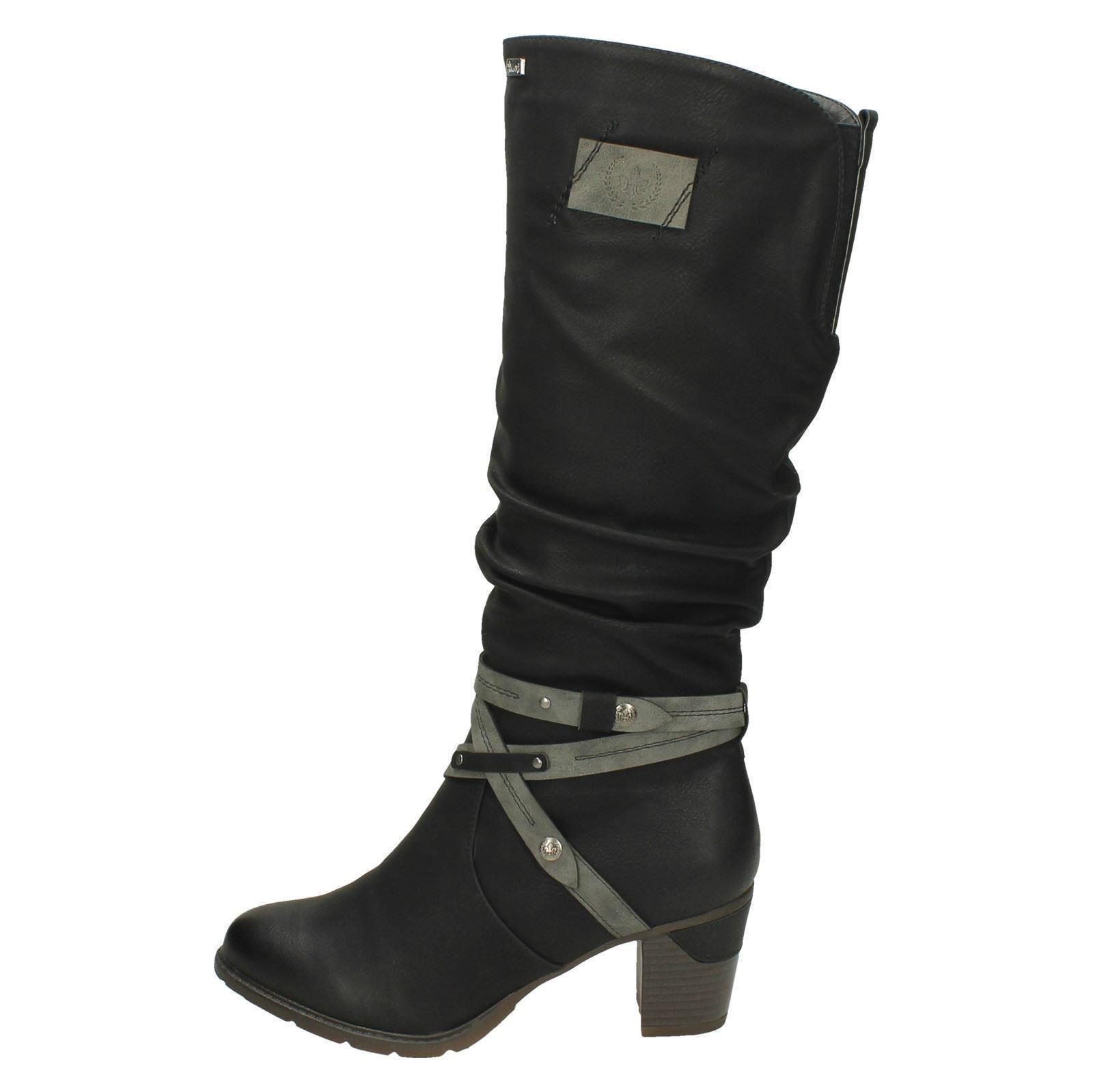Damas Rieker warmlined la rodilla Botas altas * 96054 *
