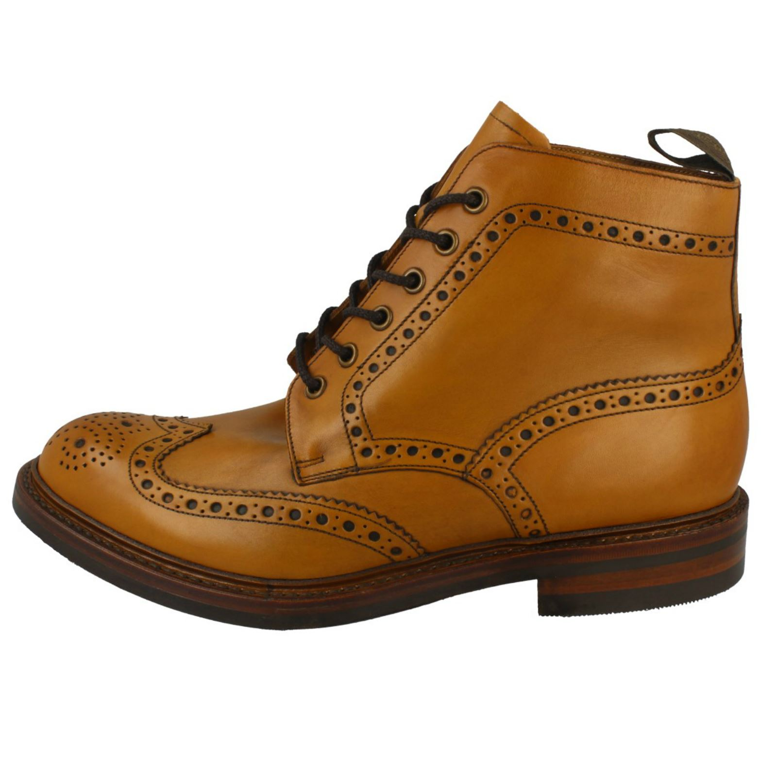 00735a09223d5 Loake-Mens-Brogue-Lace-Up-Boots-Bedale thumbnail 2