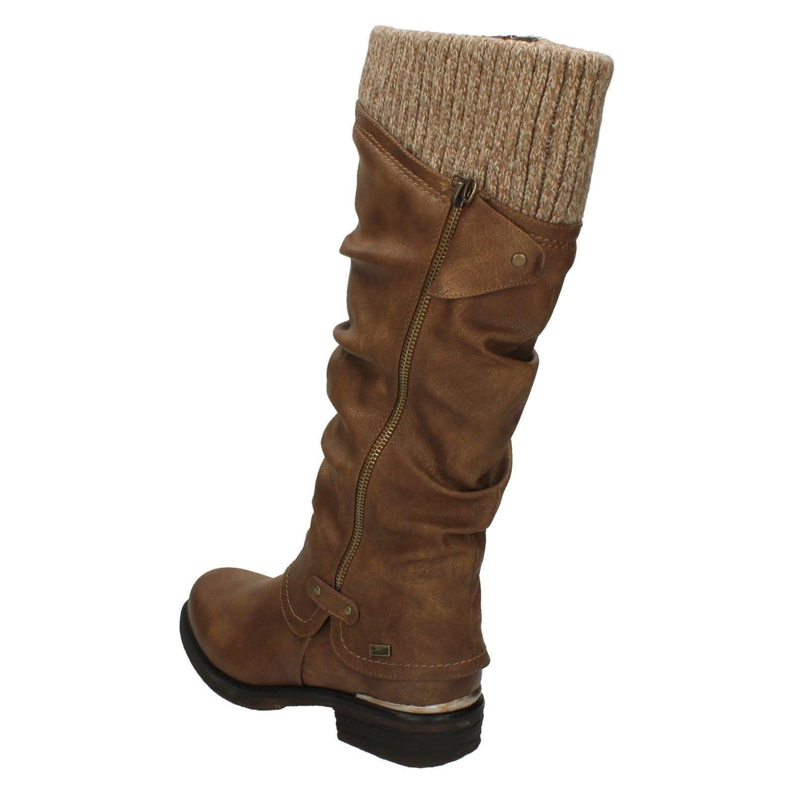 Ladies Rieker Long Boots Boots Boots '98956' cdd291