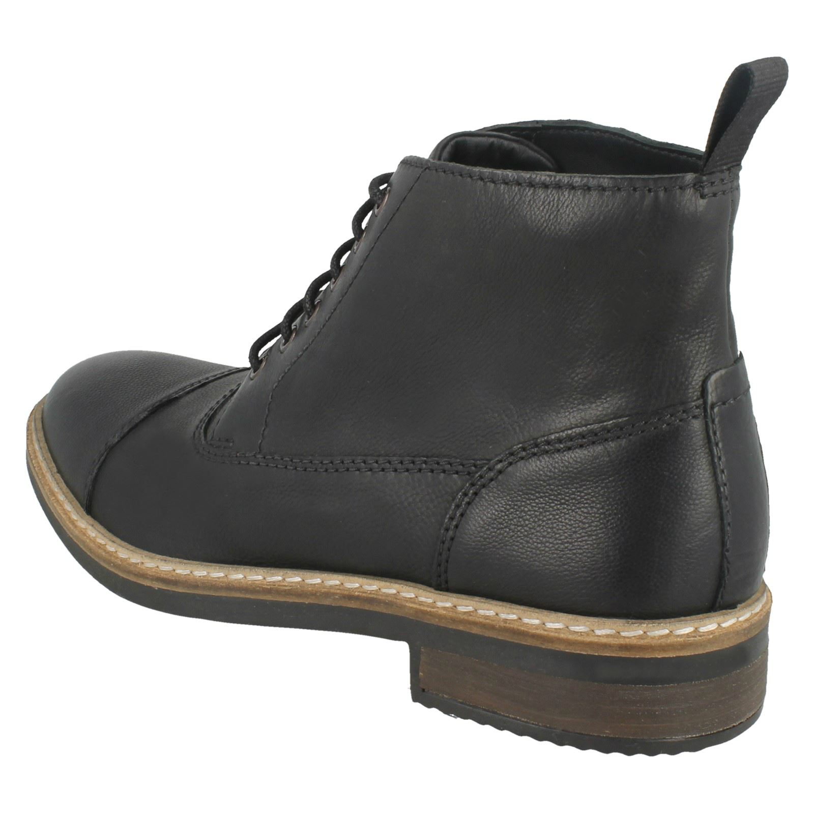 Mens Clarks Smart Ankle Boots Blackford Cap