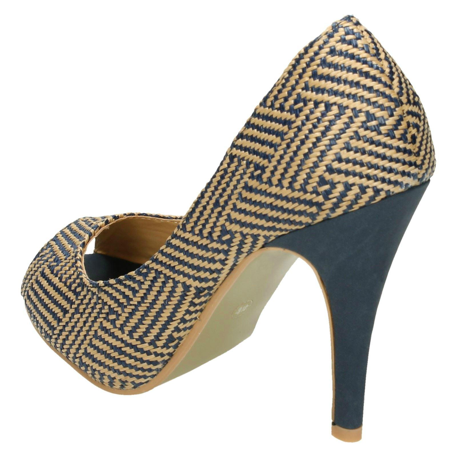 Punto de tacón Peeptoe corte de las Señoras Zapatos