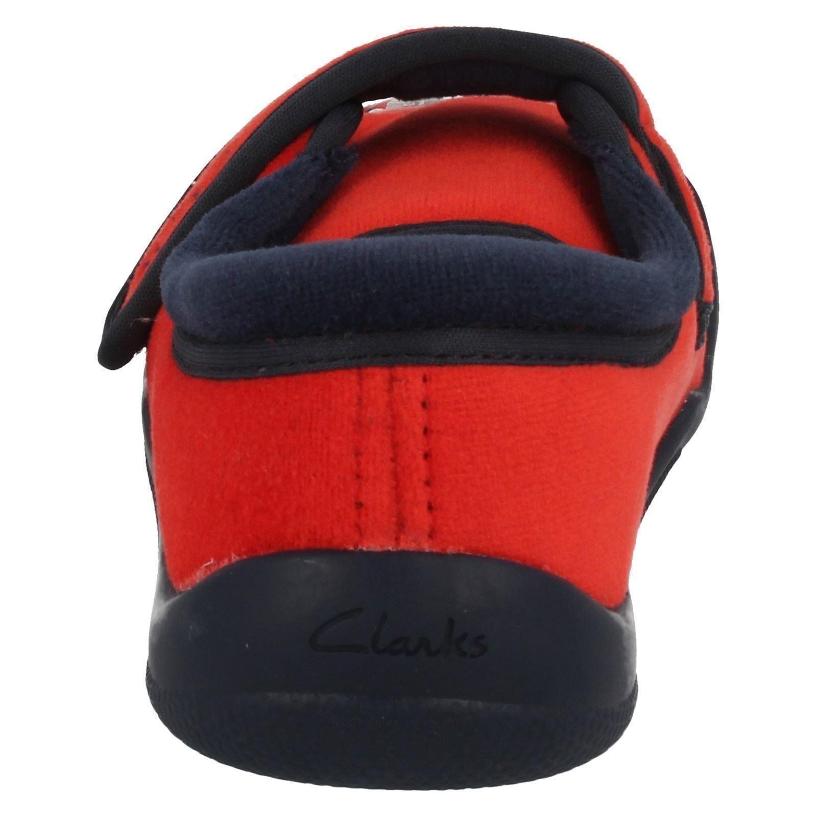 Chicos Clarks textil Hook & Loop piloto Zapatillas * Cuba Borde *