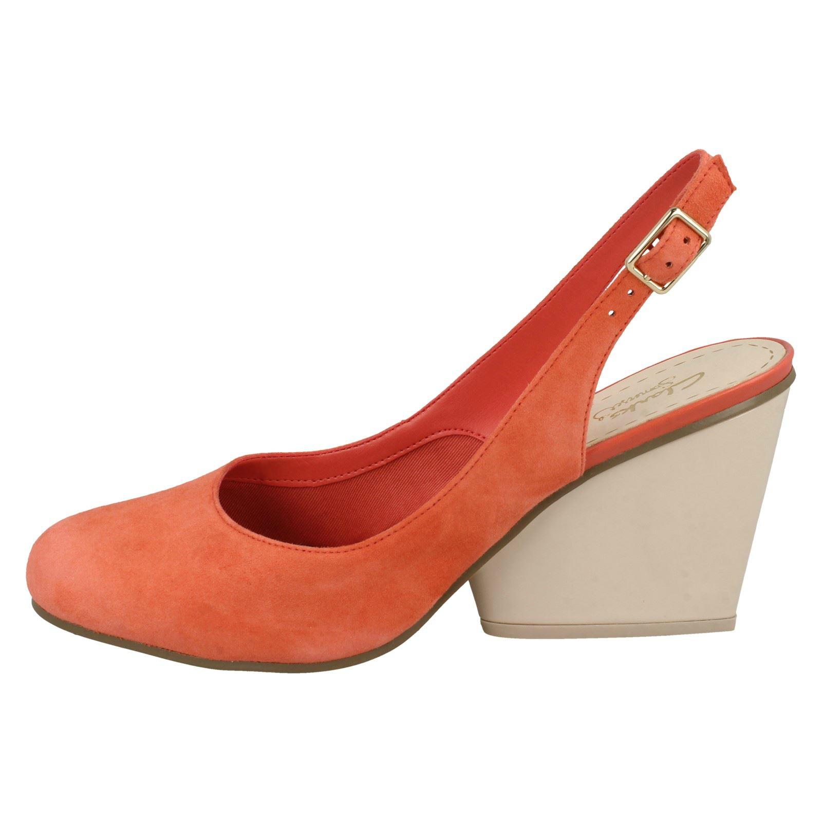 Demerara orange Sugar Heels Smart Wedge Ladies Coral Clarks pOWqUn0f