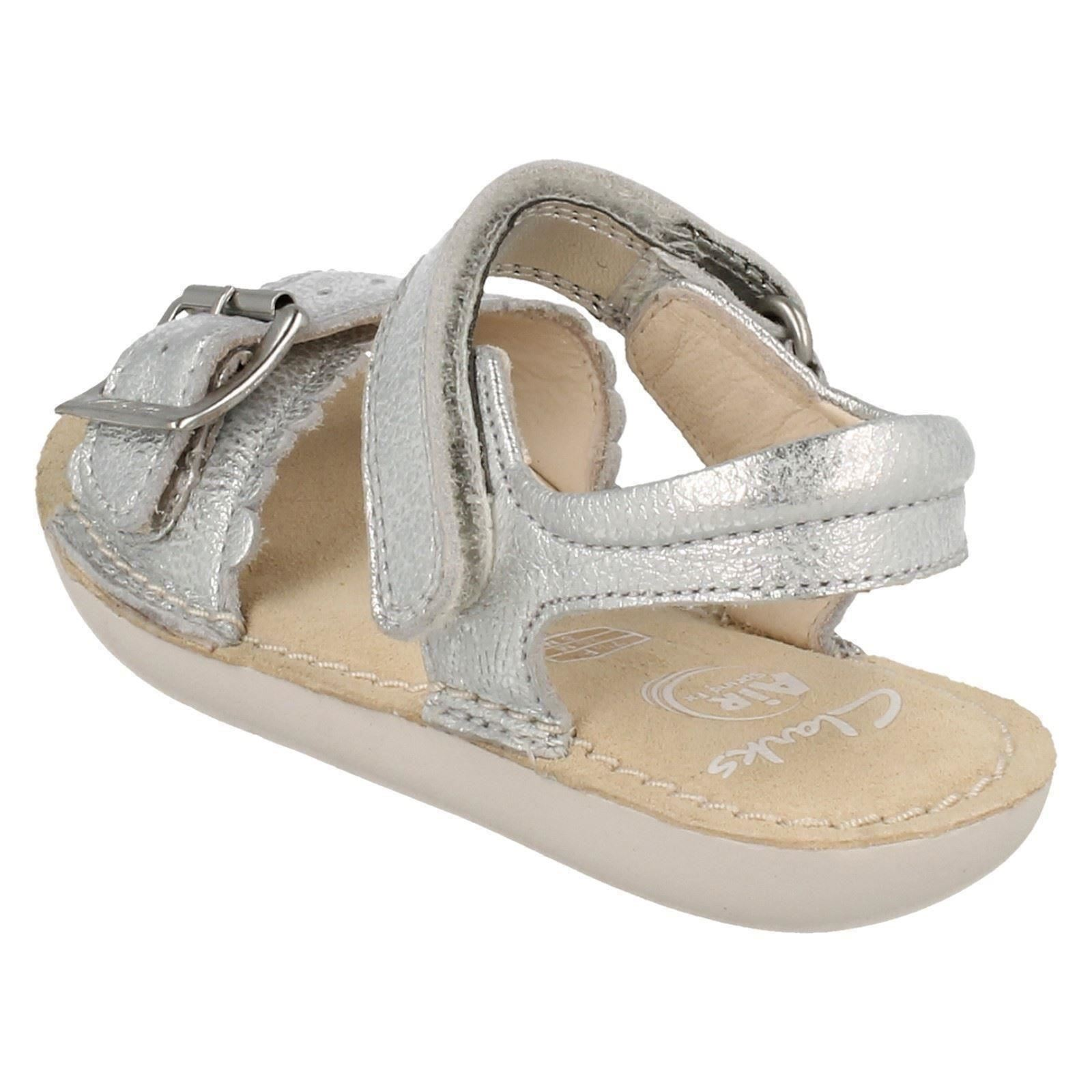 Girls Clarks Leather Buckle Strap Sandals Ivy Blossom