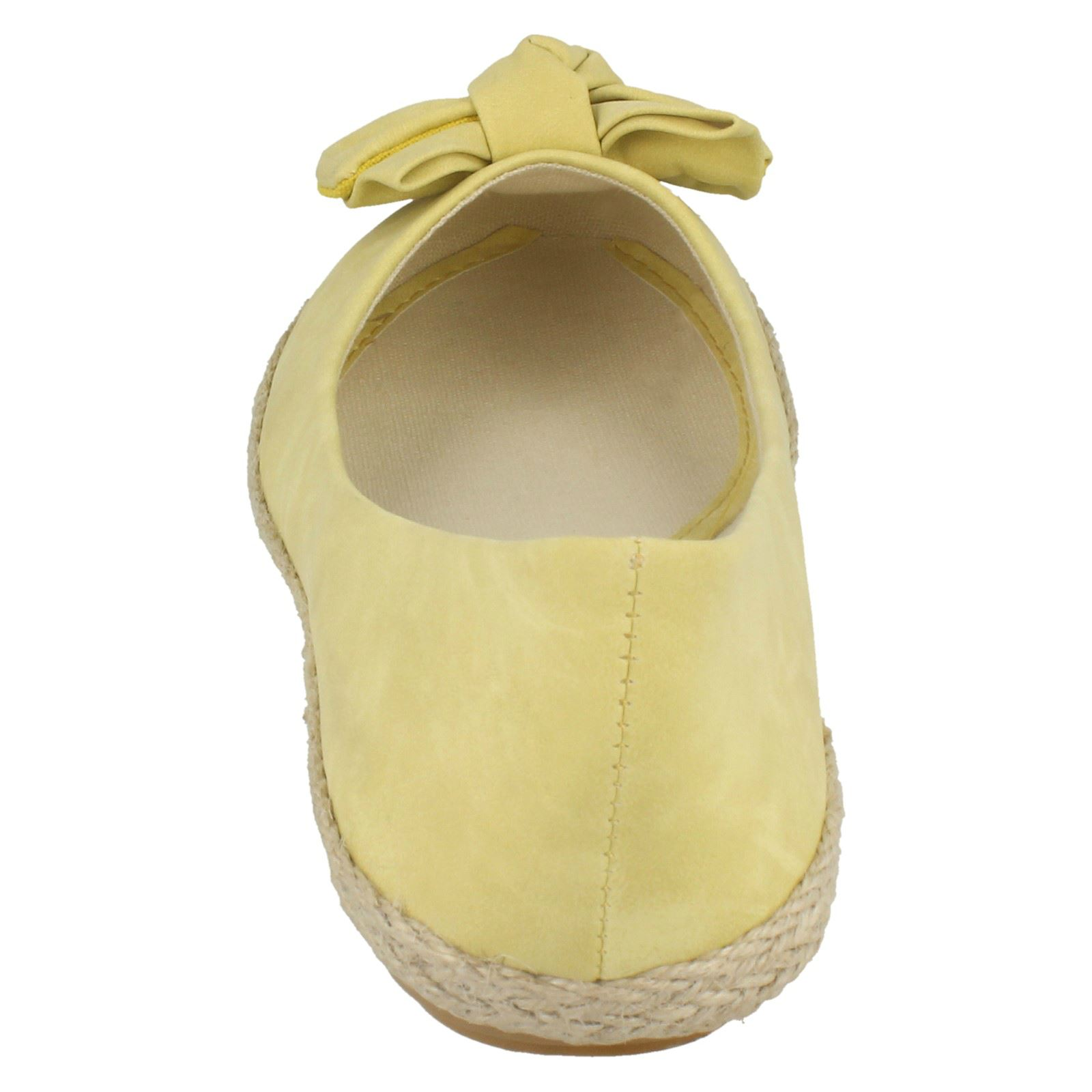 Ladies Spot On Flat Espadrille with Large Bow Vamp
