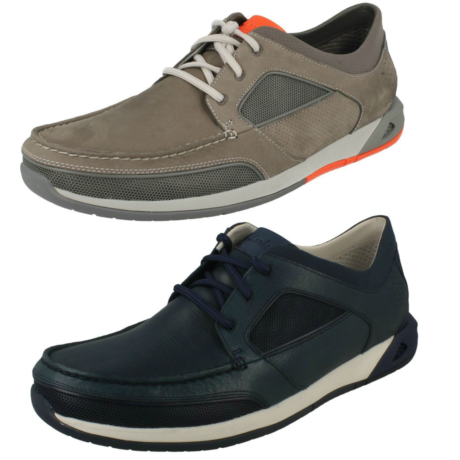 8c1ab60c1f963 Details about Mens Clarks Ormand Sail Casual Lace Up Moccasin Style Shoes