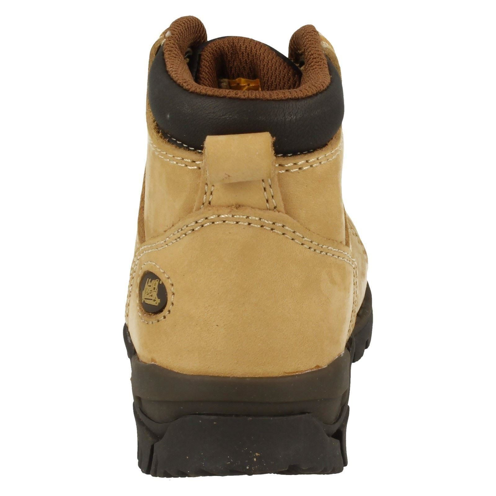 Infant Juinor Boys Caterpillar Nubuck Leather Lace Up Ankle Boots - Calvin